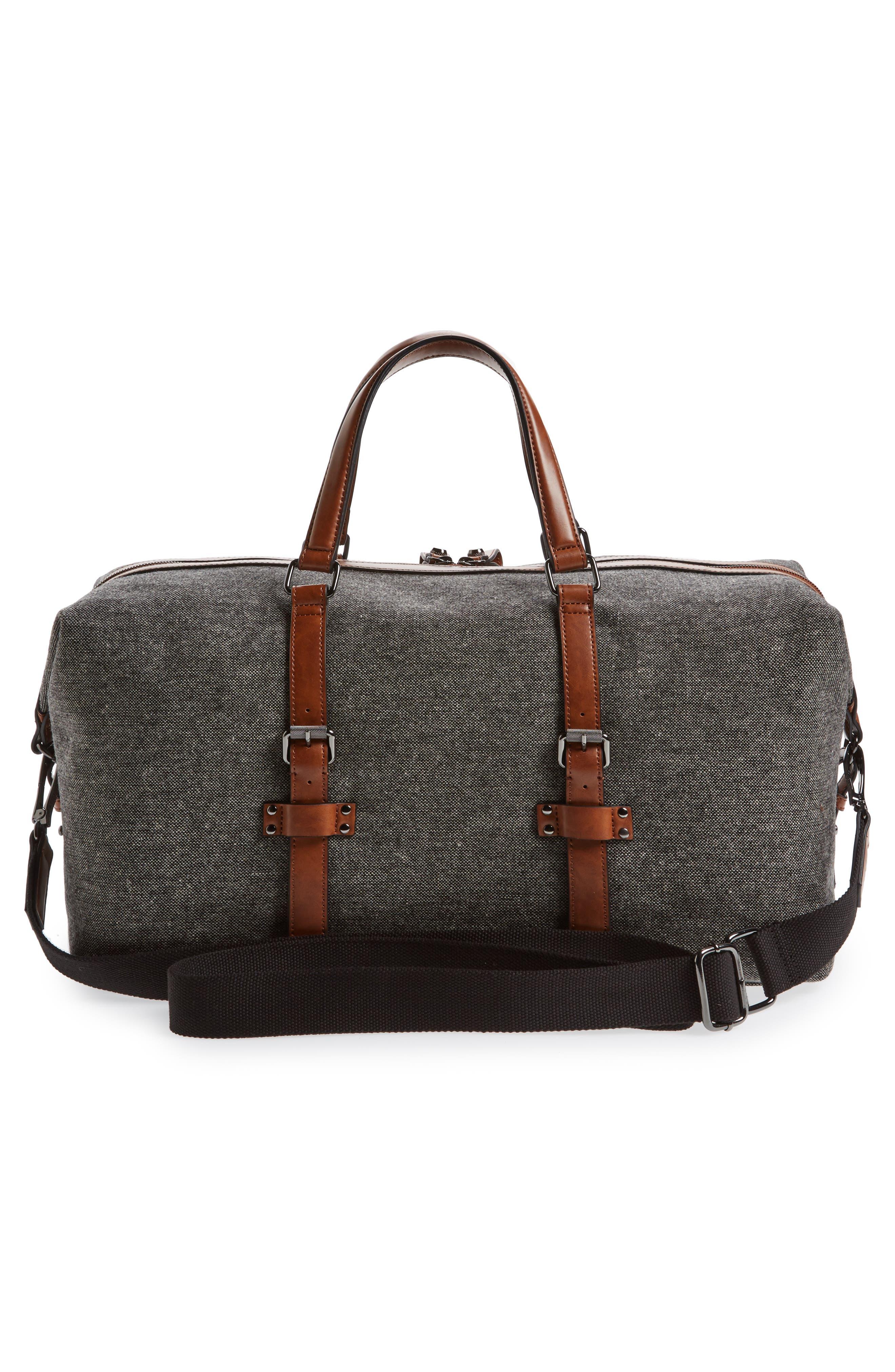 Tailor Wool Duffel Bag,                             Alternate thumbnail 3, color,                             Grey
