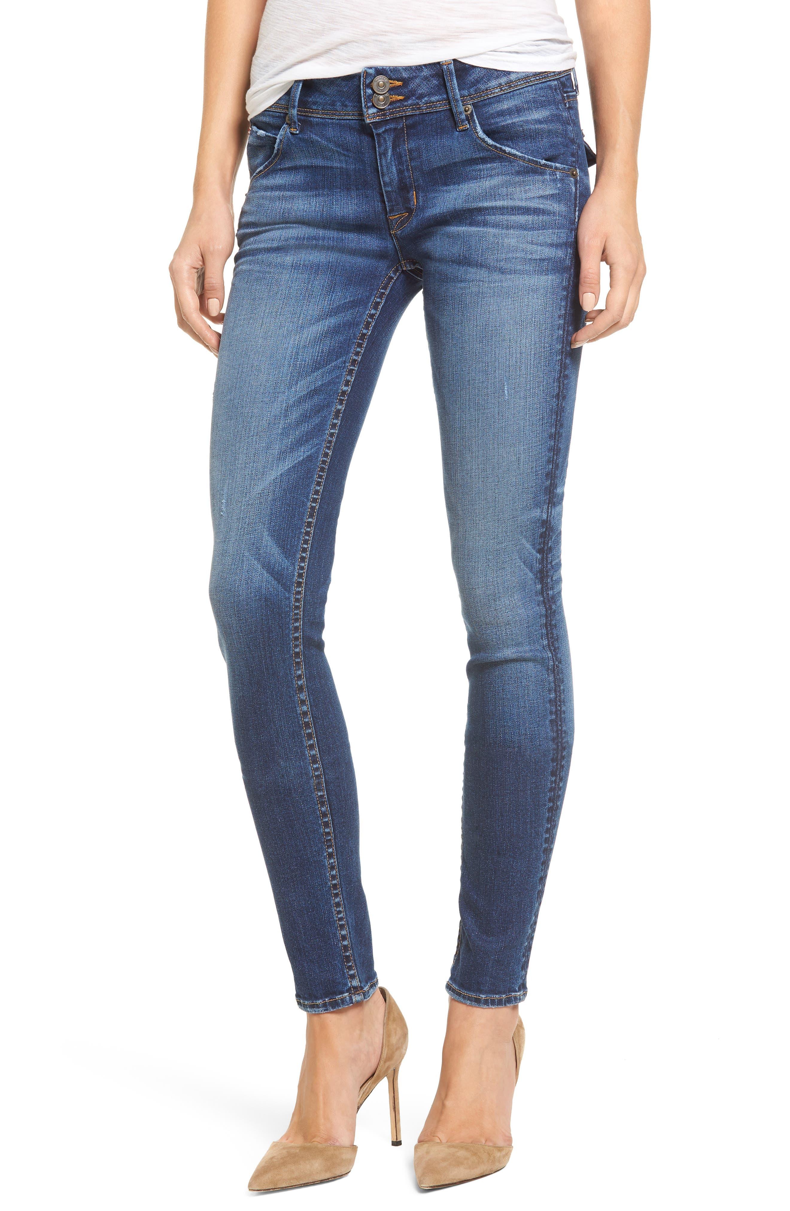 Hudson Jeans Collin Supermodel Skinny Jeans (Contender)