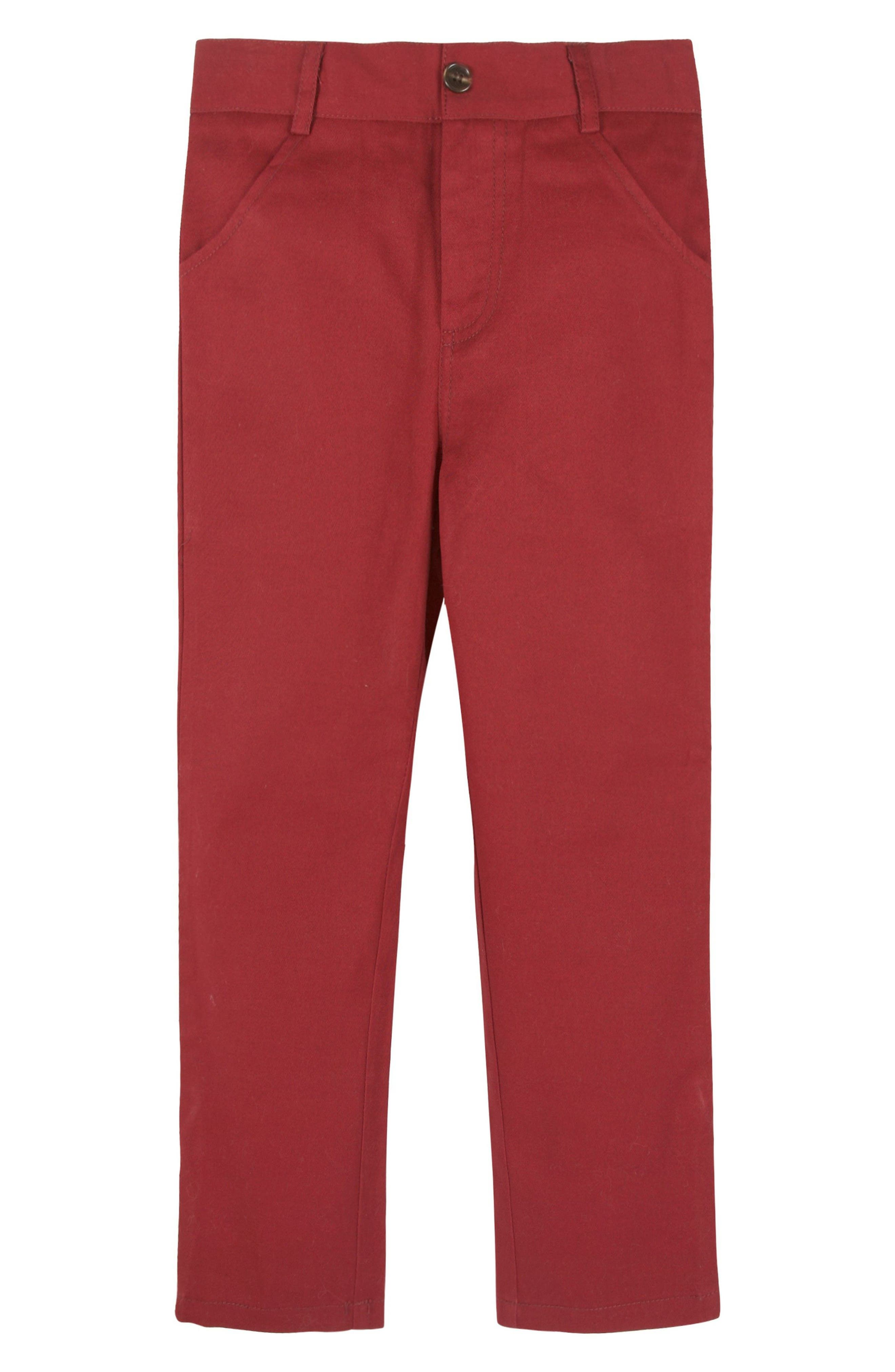 Alternate Image 1 Selected - Andy & Evan Stretch Cotton Twill Pants (Baby Boys)