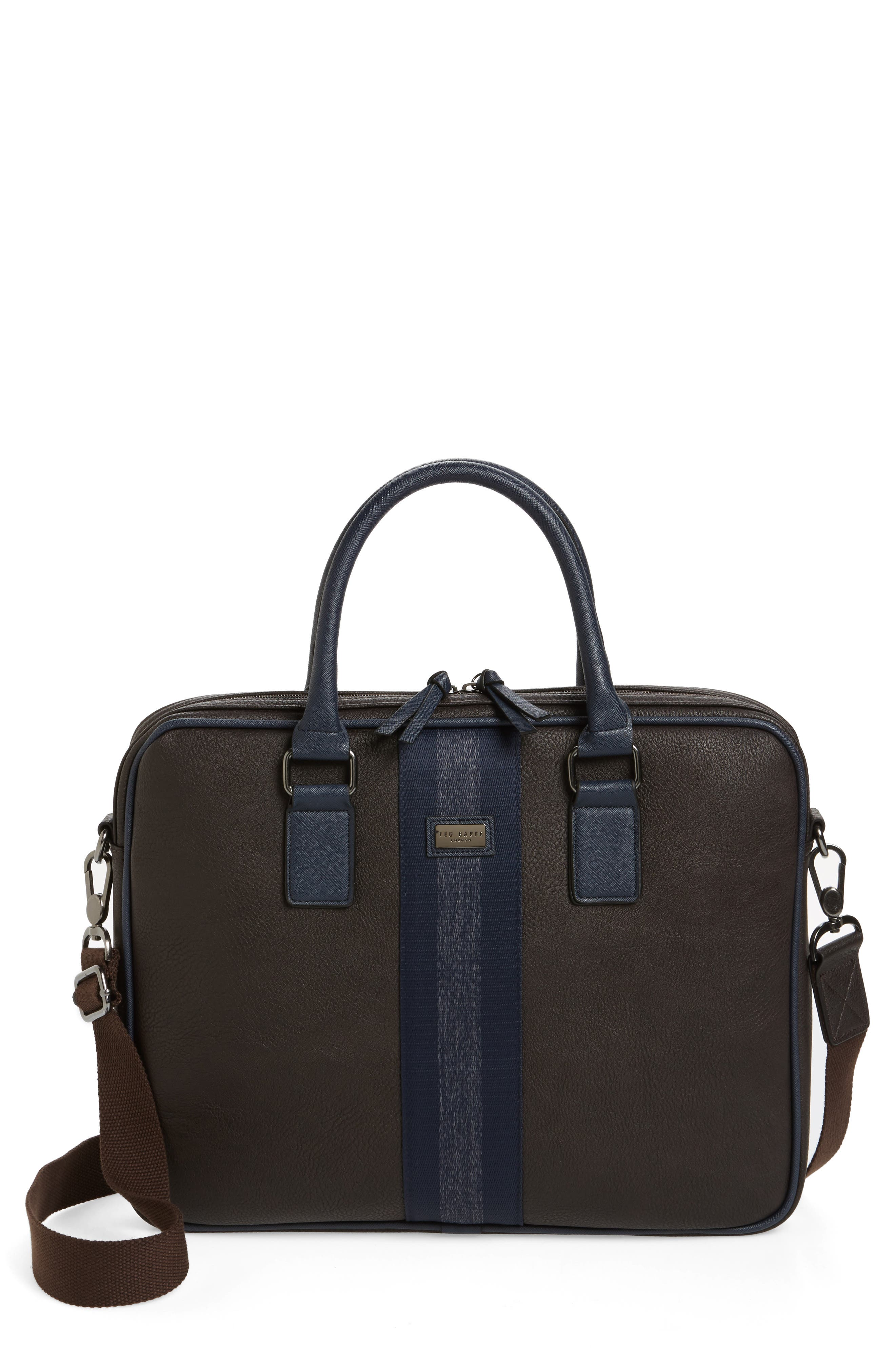 Slivain Briefcase,                             Main thumbnail 1, color,                             Chocolate