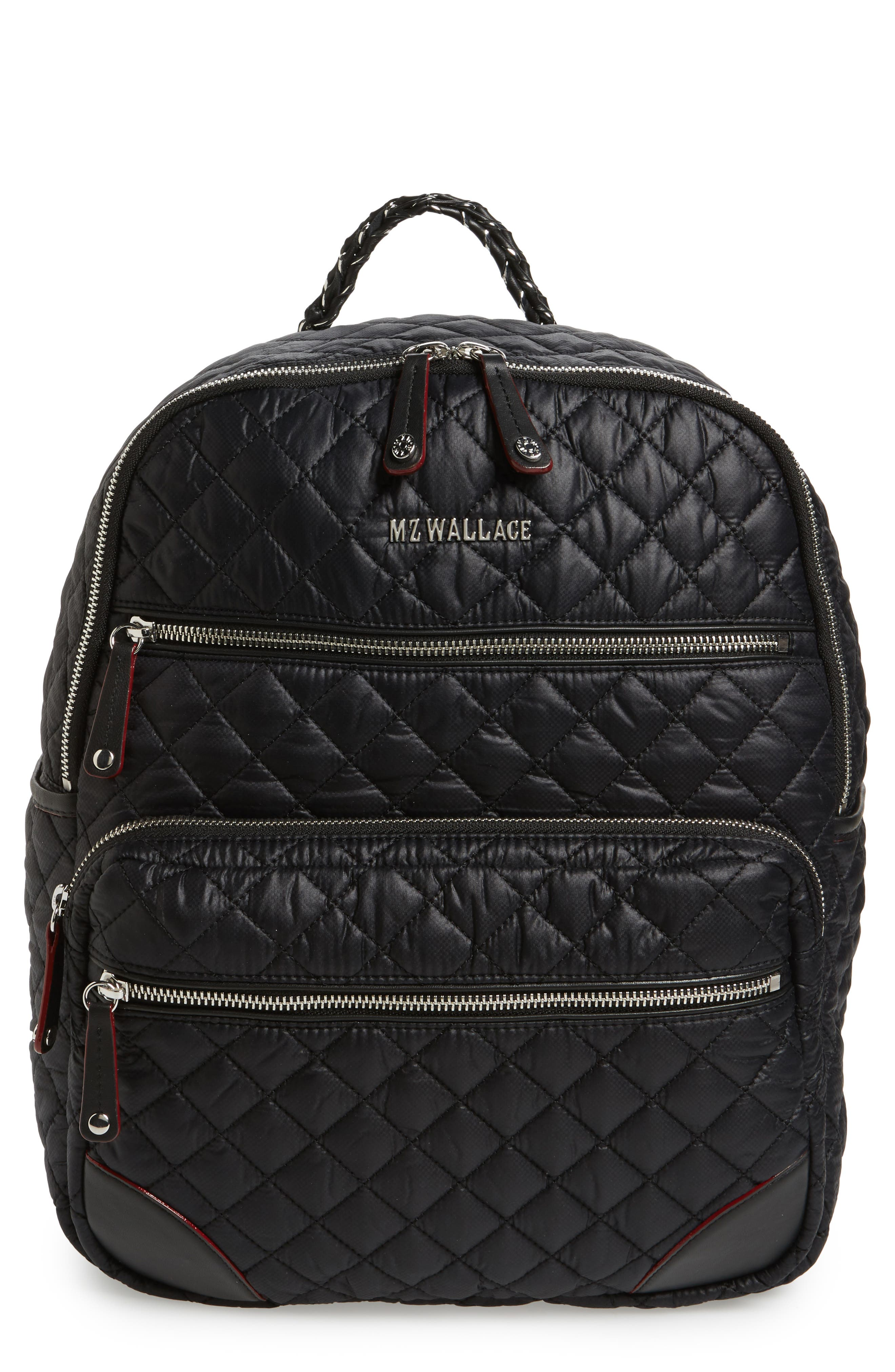 Main Image - MZ Wallace Crosby Quilted Oxford Nylon Backpack