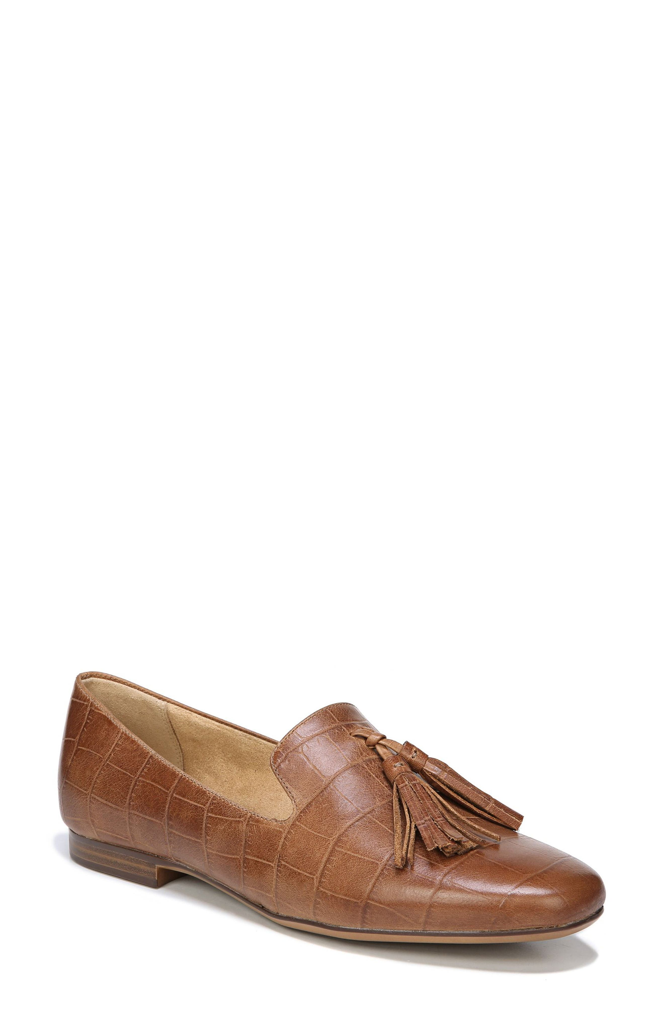 Elly Flat,                             Main thumbnail 1, color,                             Brown Leather