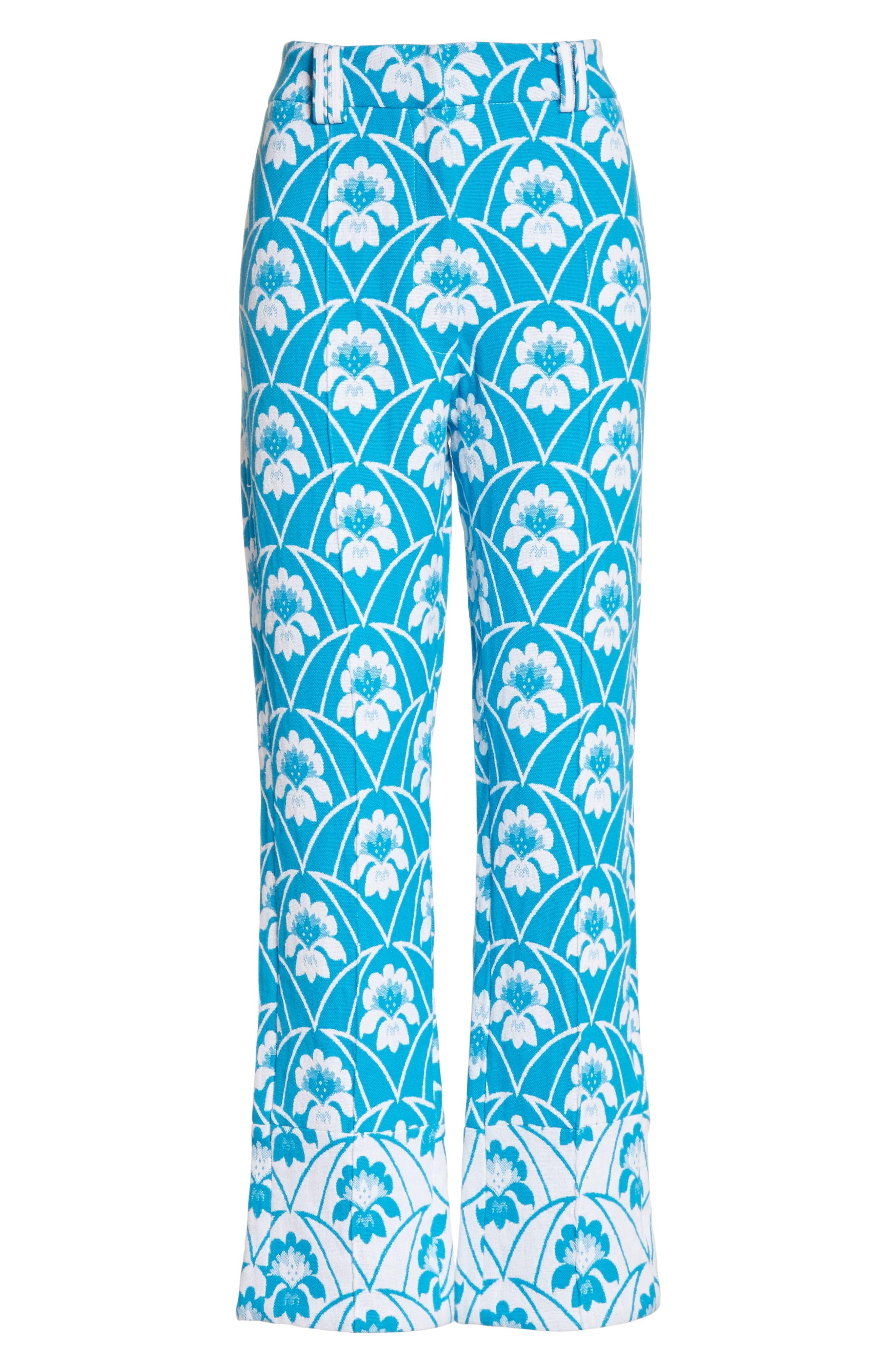 Alternate Image 6  - Richard Malone Floral Slim Leg Trousers