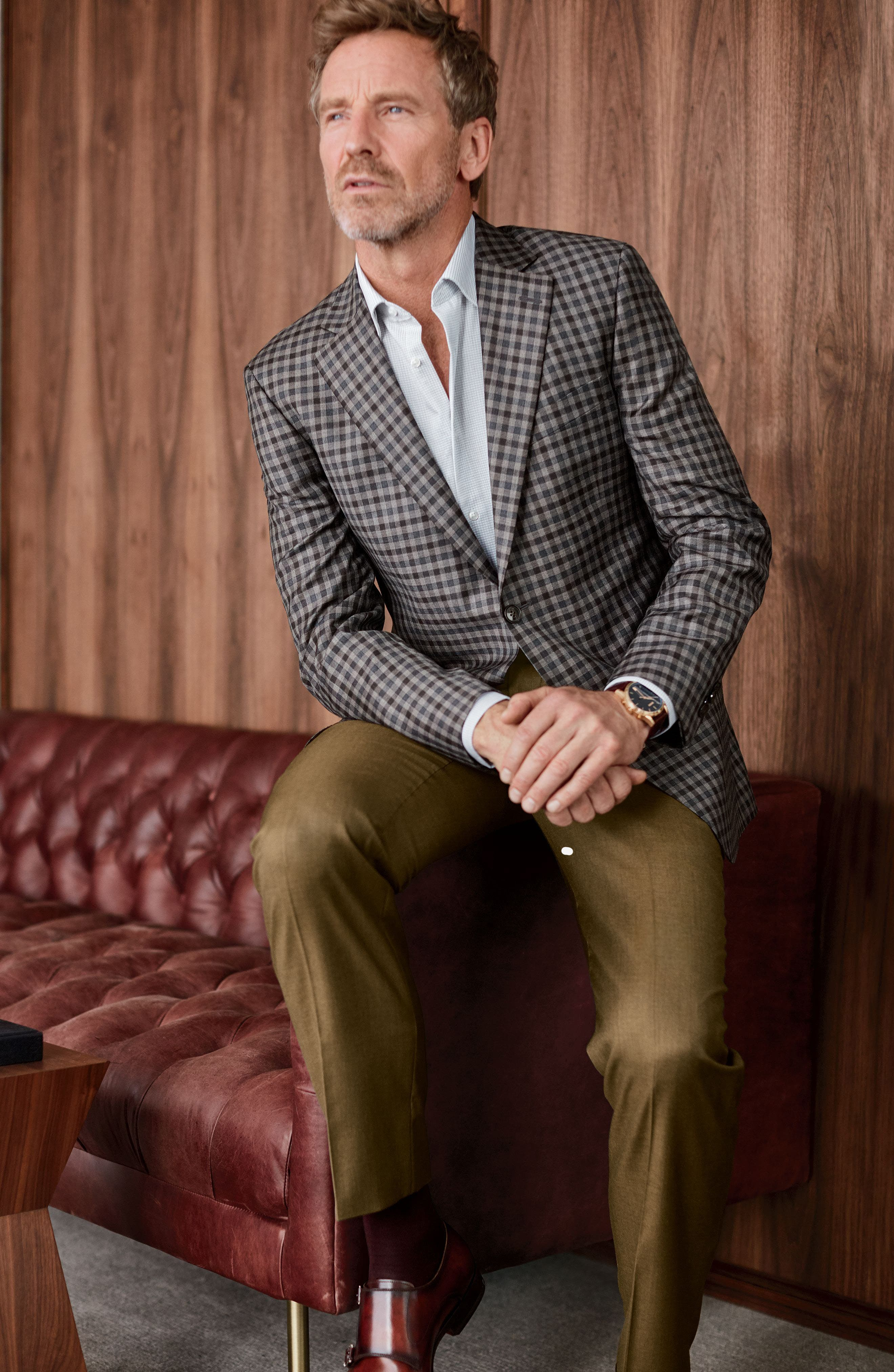Alternate Image 7  - Peter Millar Flynn Classic Fit Check Wool Sport Coat