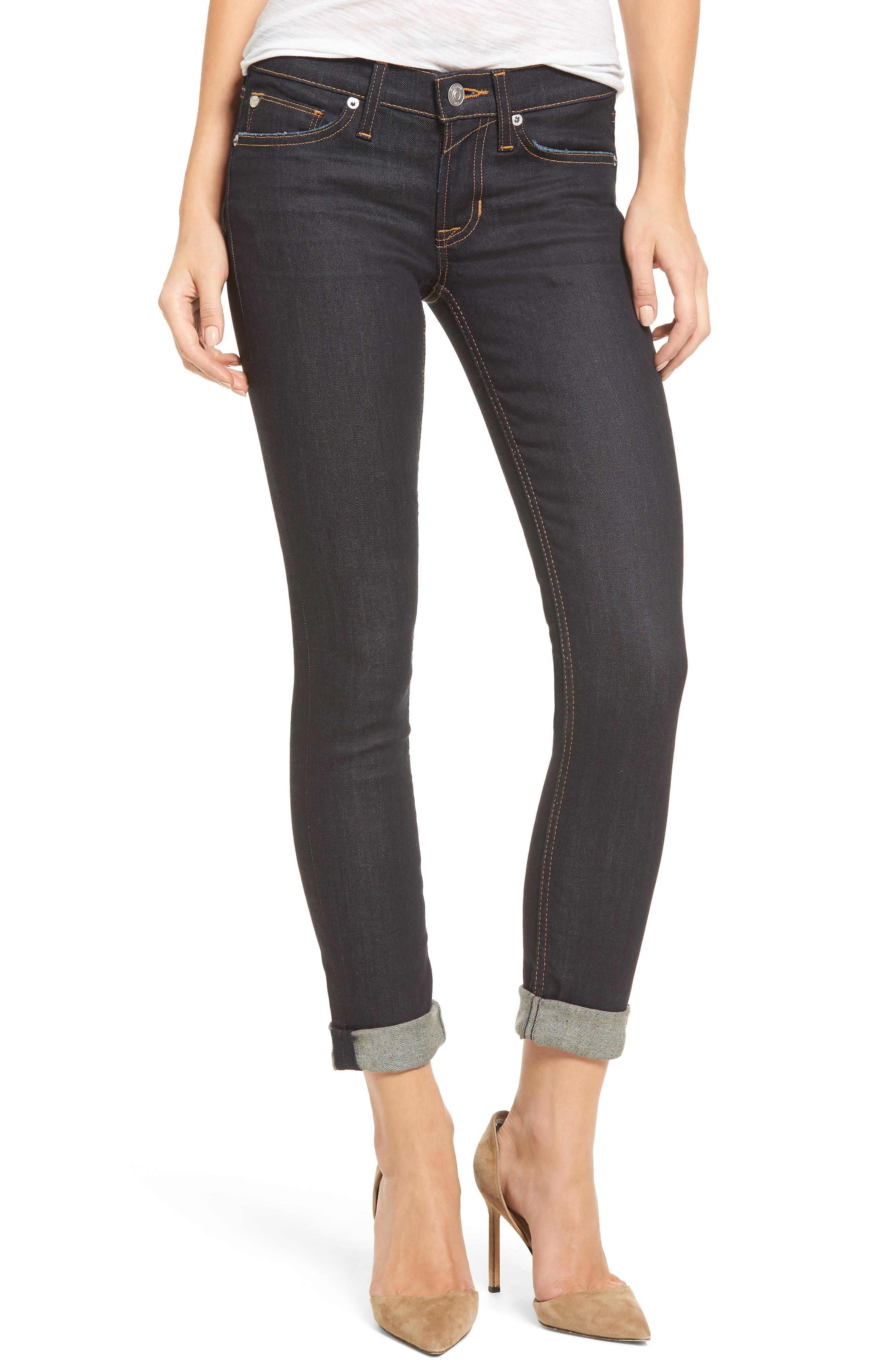 Main Image - Hudson Jeans Tally Crop Skinny Jeans (Contender)