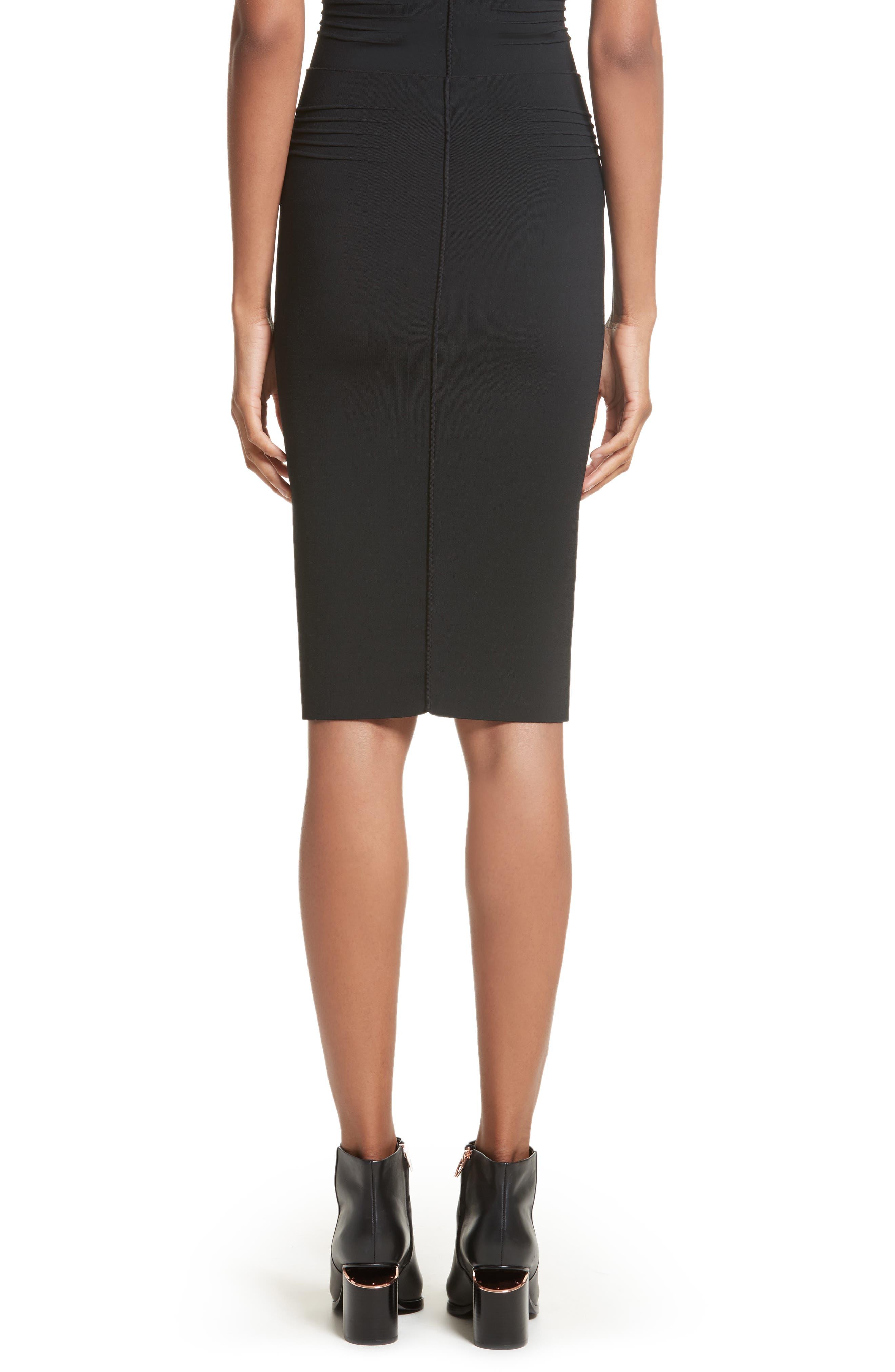 Knit Pencil Skirt,                             Alternate thumbnail 2, color,                             Black