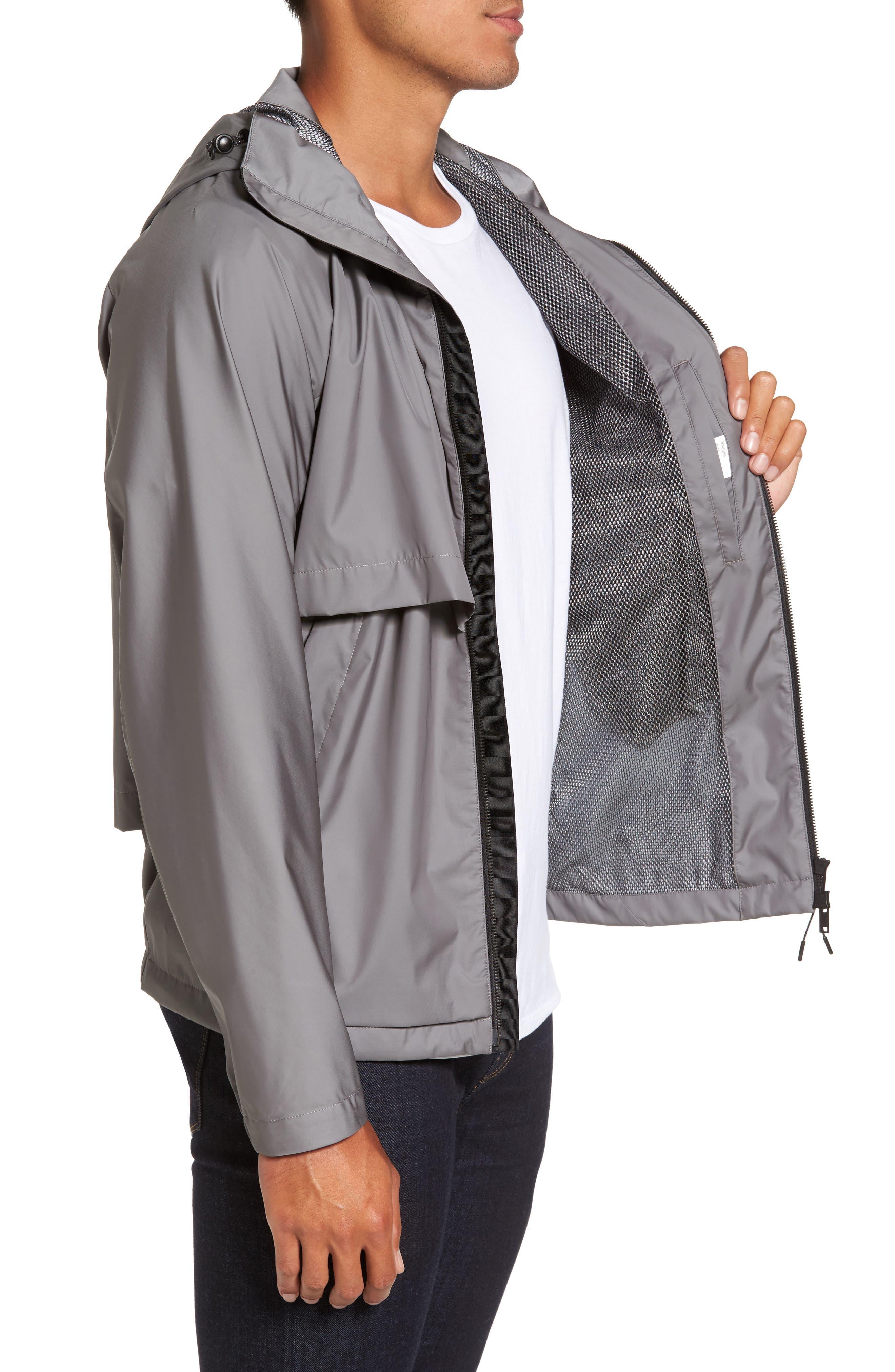 Driftbreak Trim Fit Tech Jacket,                             Alternate thumbnail 3, color,                             Grey