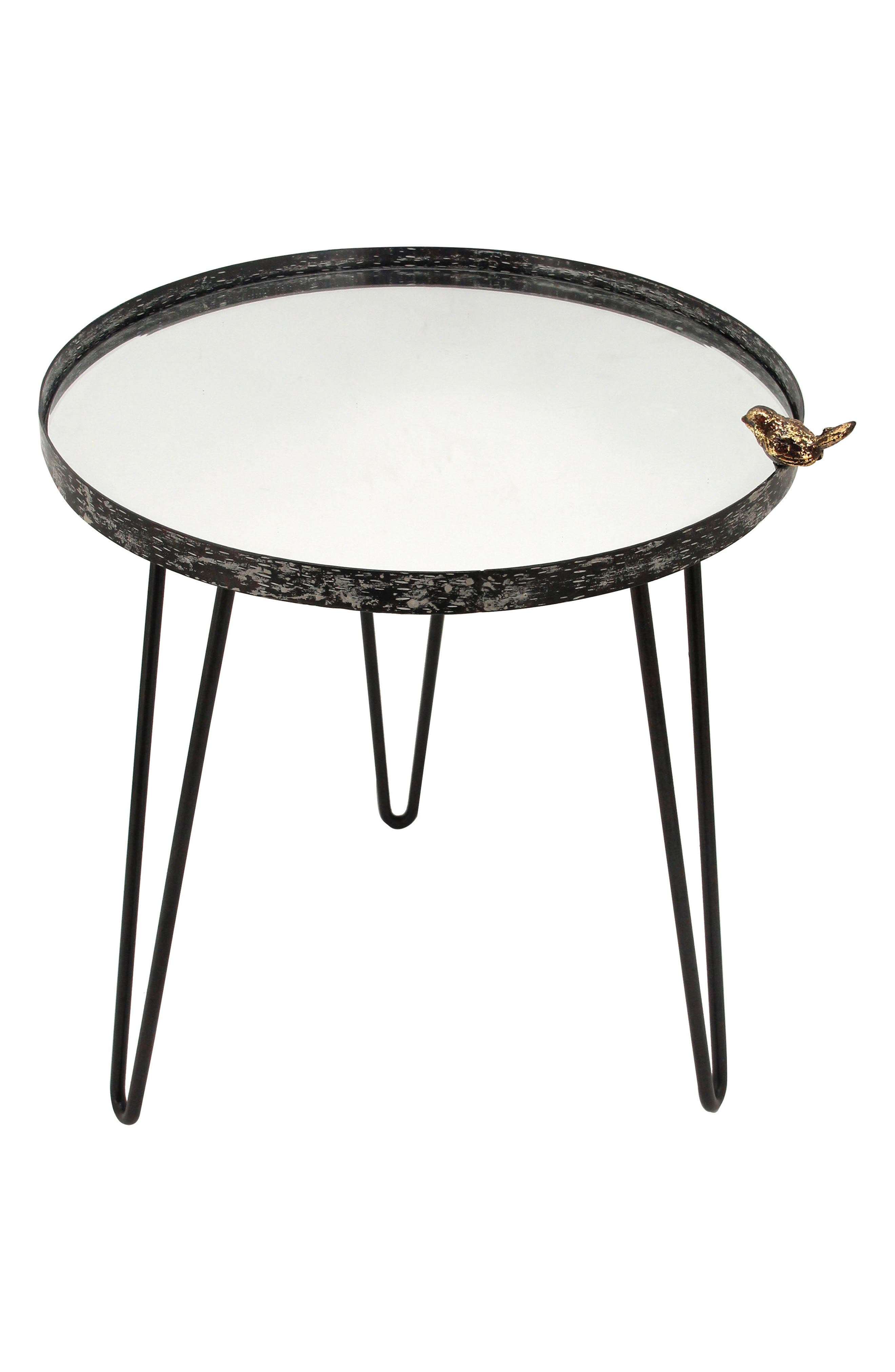 Bird Mirror Side Table,                         Main,                         color, Metal/ Glass