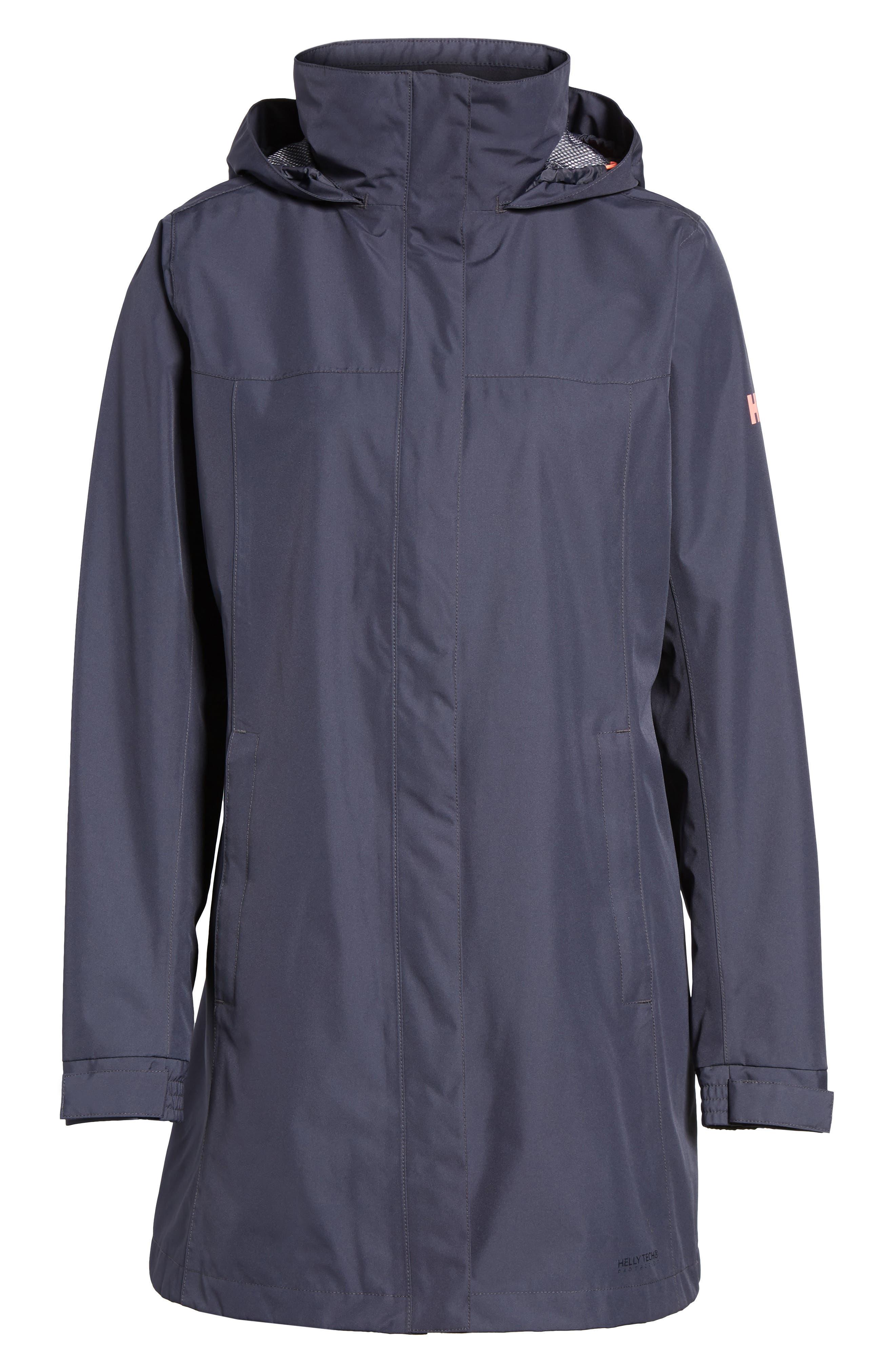 'Aden' Helly Tech<sup>®</sup> Raincoat,                             Alternate thumbnail 7, color,                             Graphite Blue