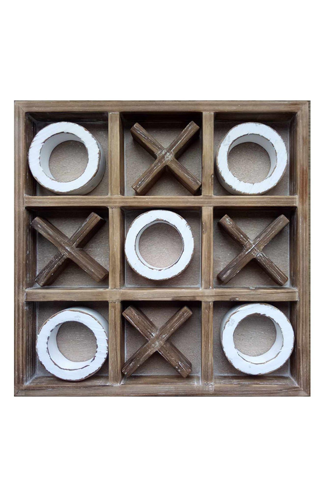 Alternate Image 1 Selected - Crystal Art Gallery Tic Tac Toe Wooden Wall Art