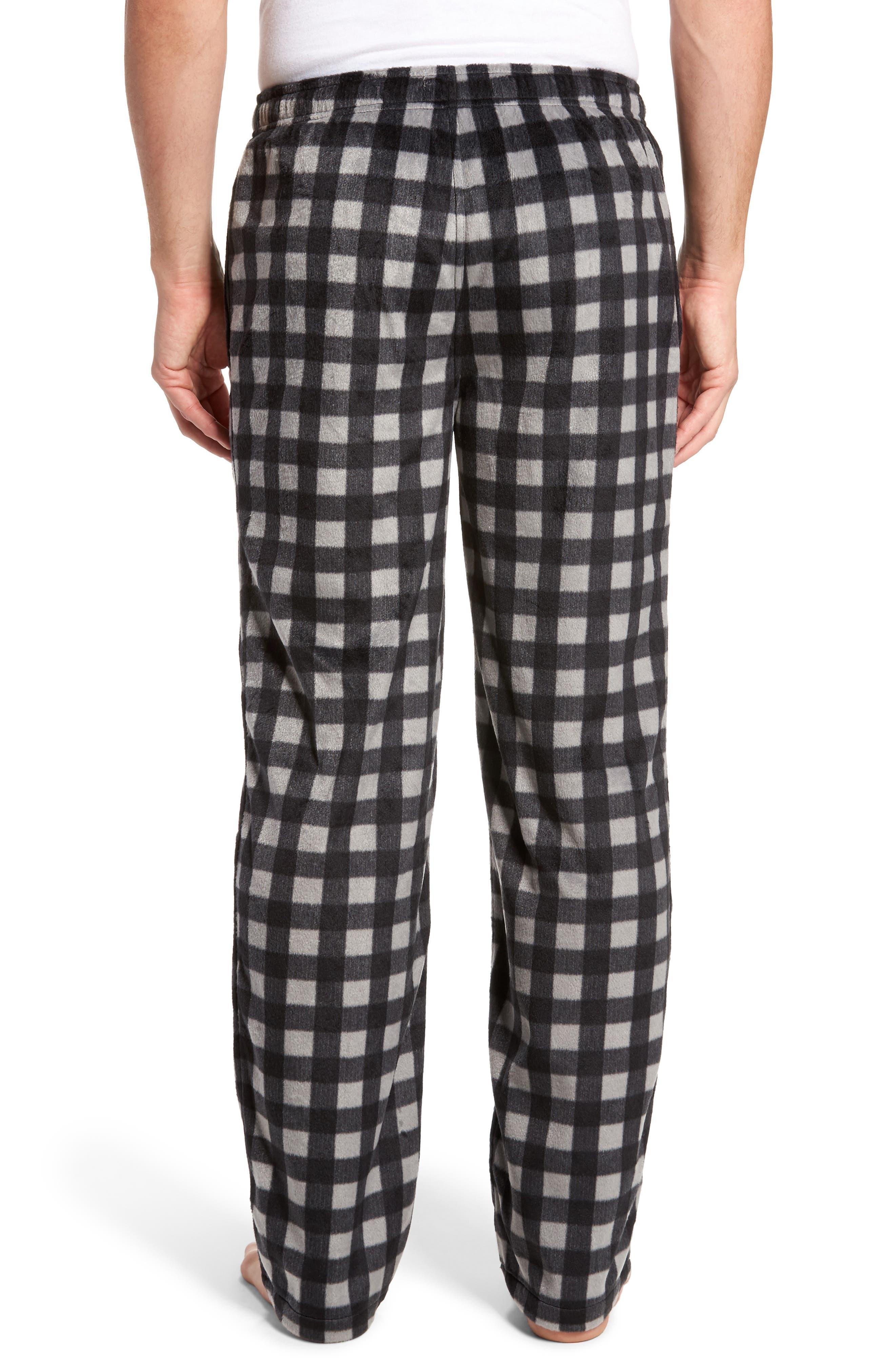 Fleece Lounge Pants,                             Alternate thumbnail 2, color,                             Grey December- Black Buffalo