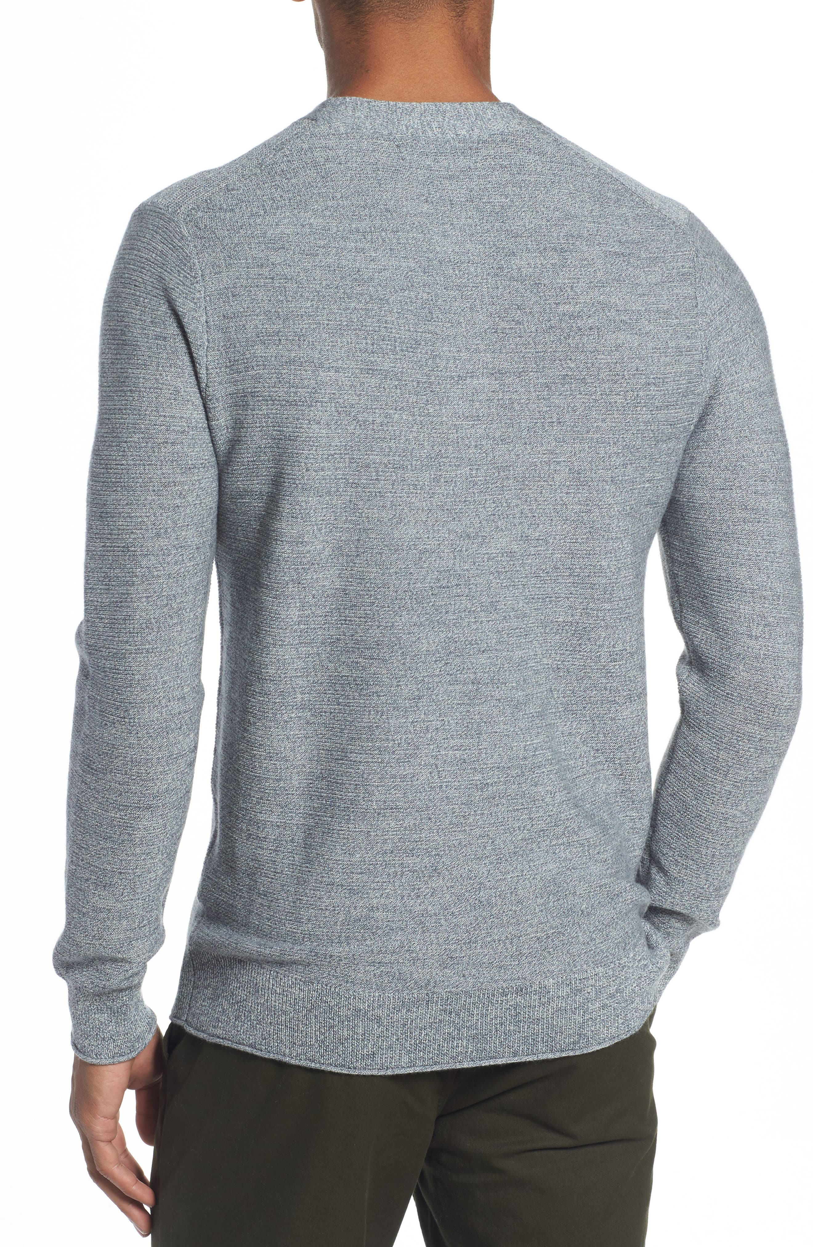 Merino Wool Knit Henley,                             Alternate thumbnail 2, color,                             Heather Grey