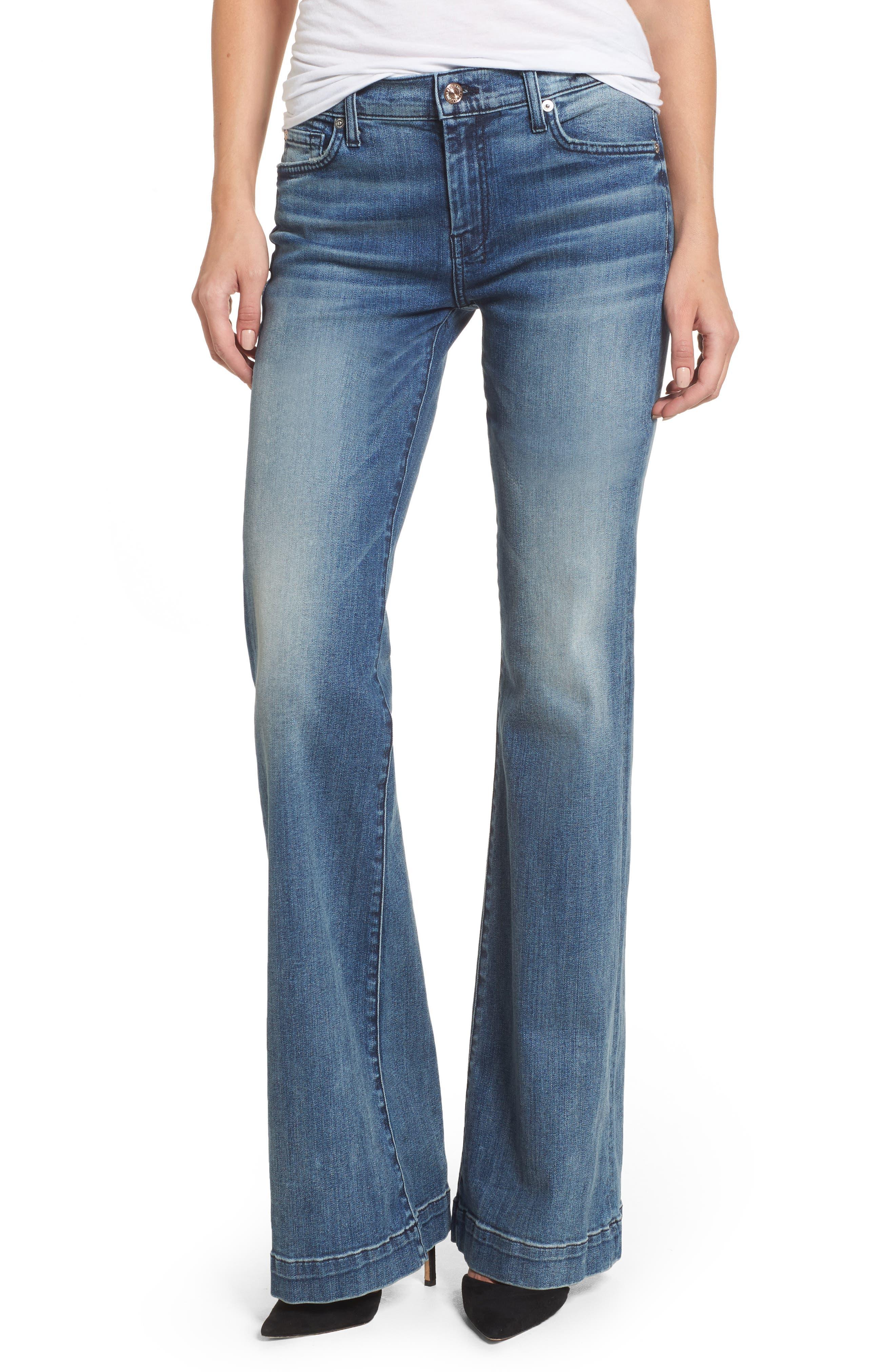 Main Image - 7 For All Mankind® 'Dojo' Wide Leg Jeans