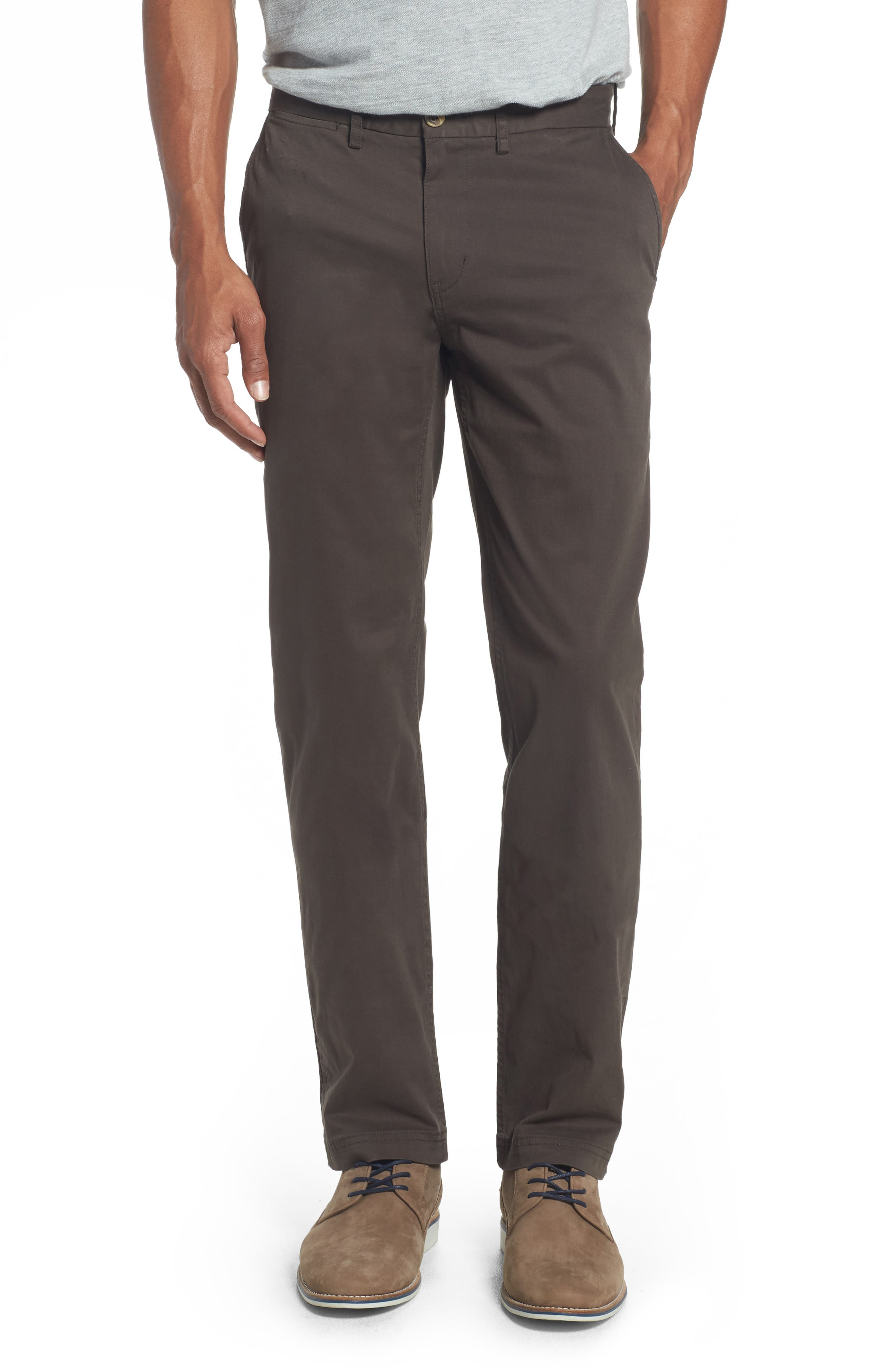 Slim Fit Stretch Chinos,                         Main,                         color, Dark Forest