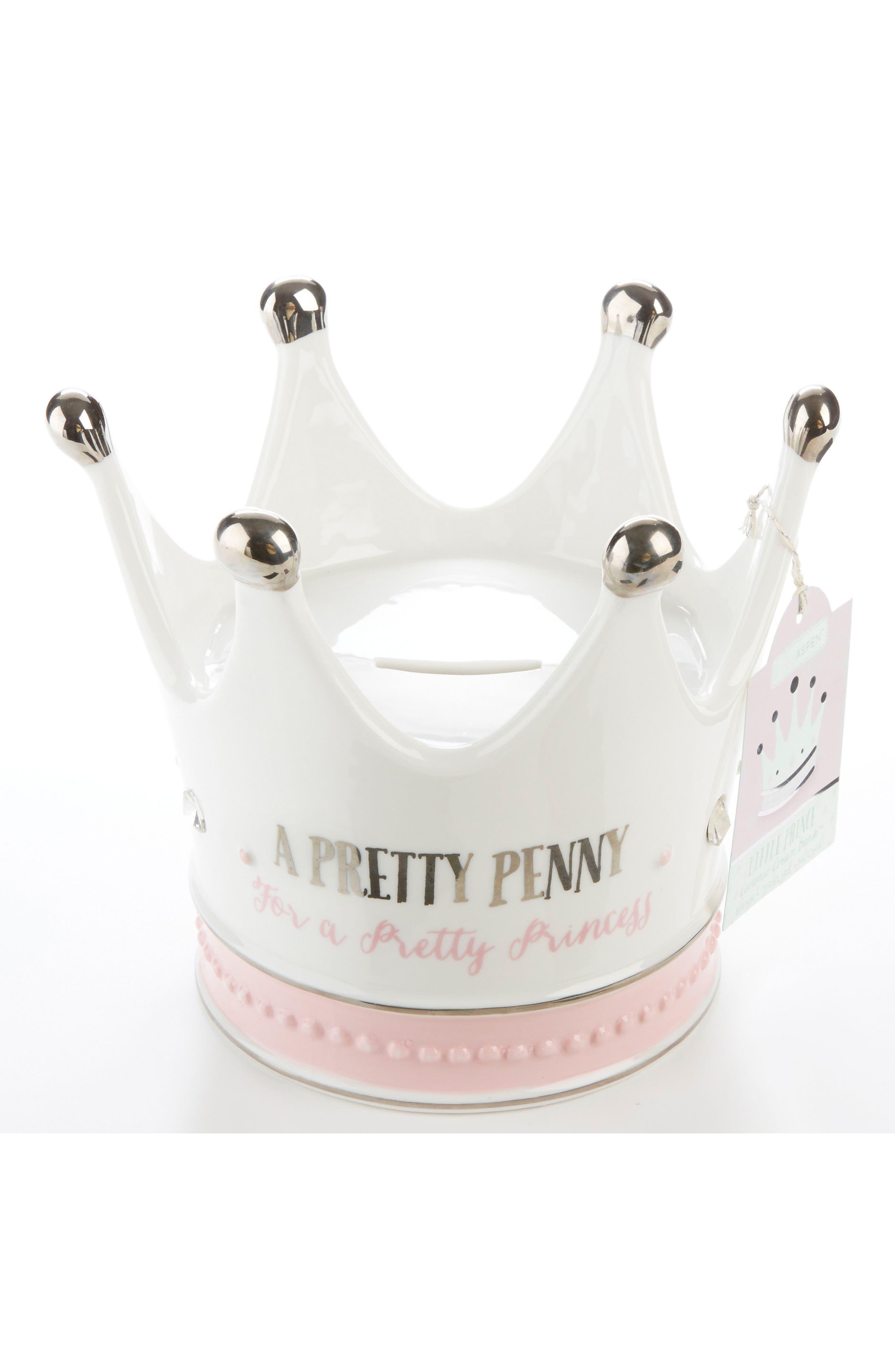 Baby Aspen Little Princess Ceramic Crown Bank