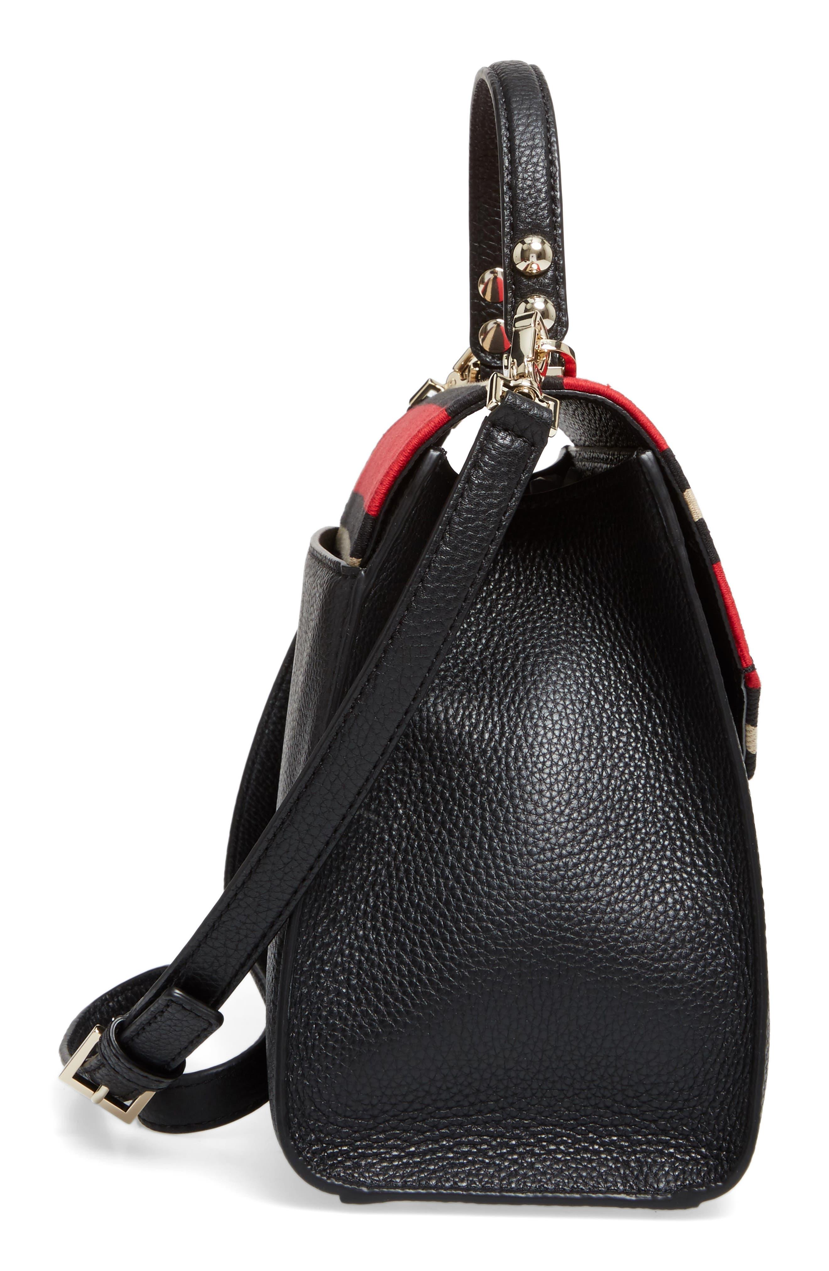 stewart street - samira textile & leather top handle satchel,                             Alternate thumbnail 4, color,                             Multi
