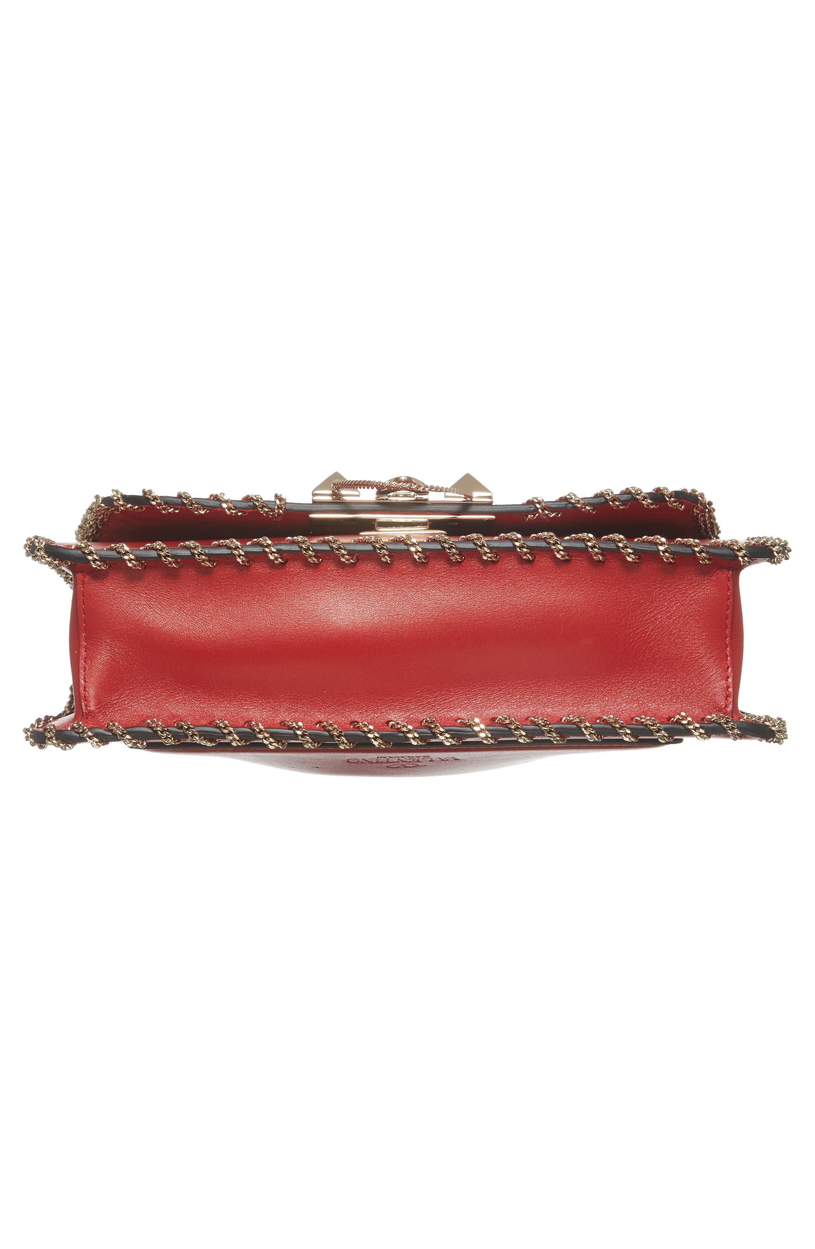 Alternate Image 5  - VALENTINO GARAVANI Demilune Whipstitch Leather Shoulder Bag