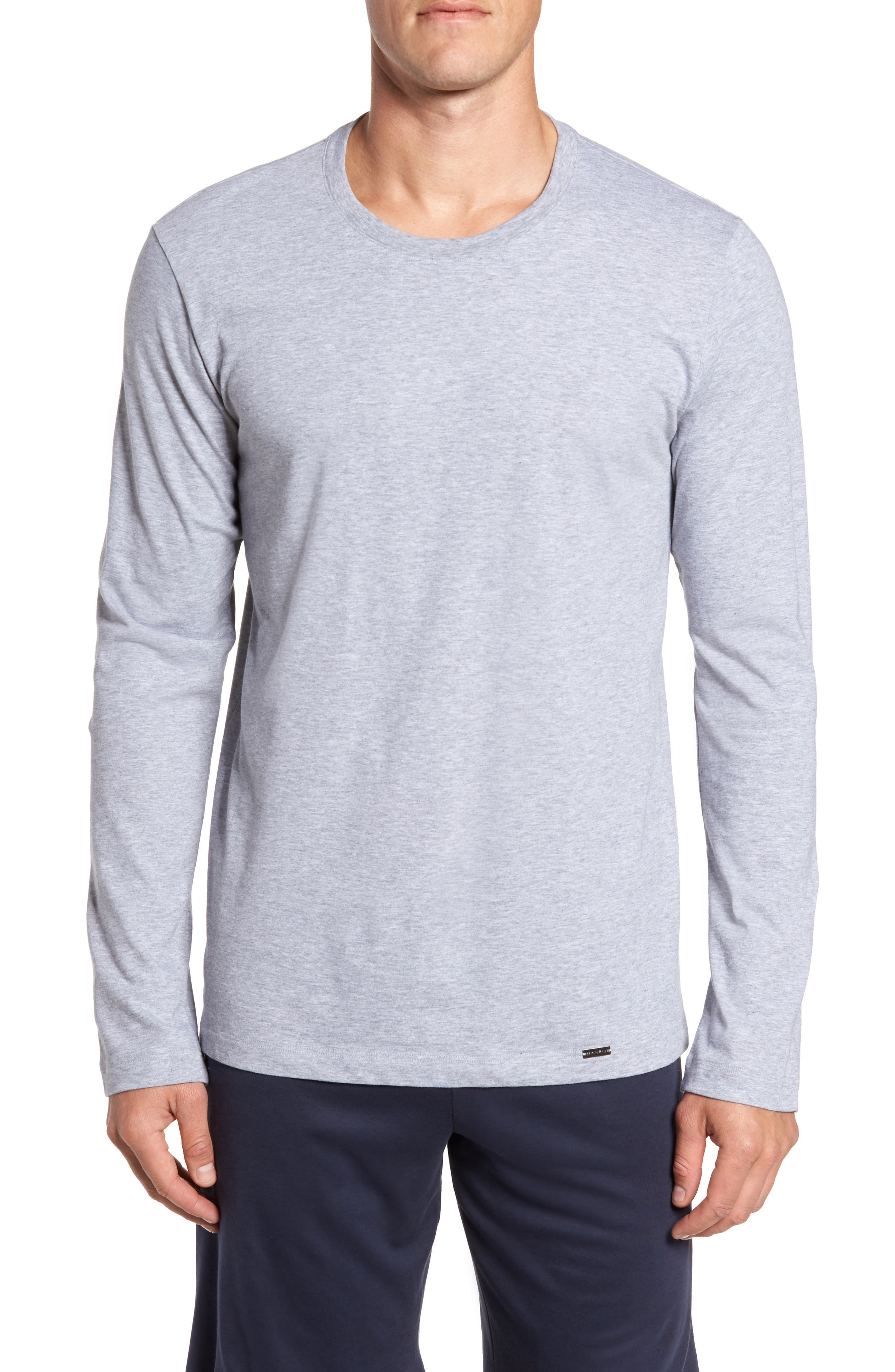 Living Long Sleeve T-Shirt,                         Main,                         color, Grey Melange