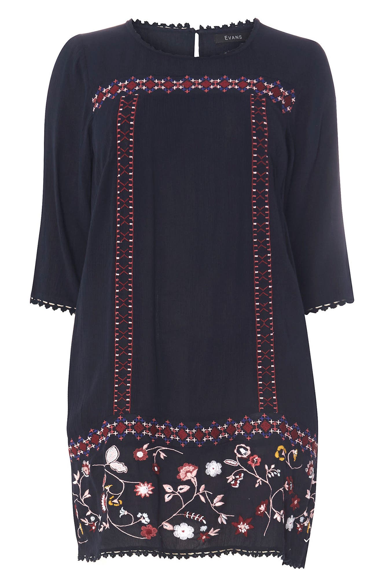 Embroidered Tunic,                             Alternate thumbnail 5, color,                             Navy
