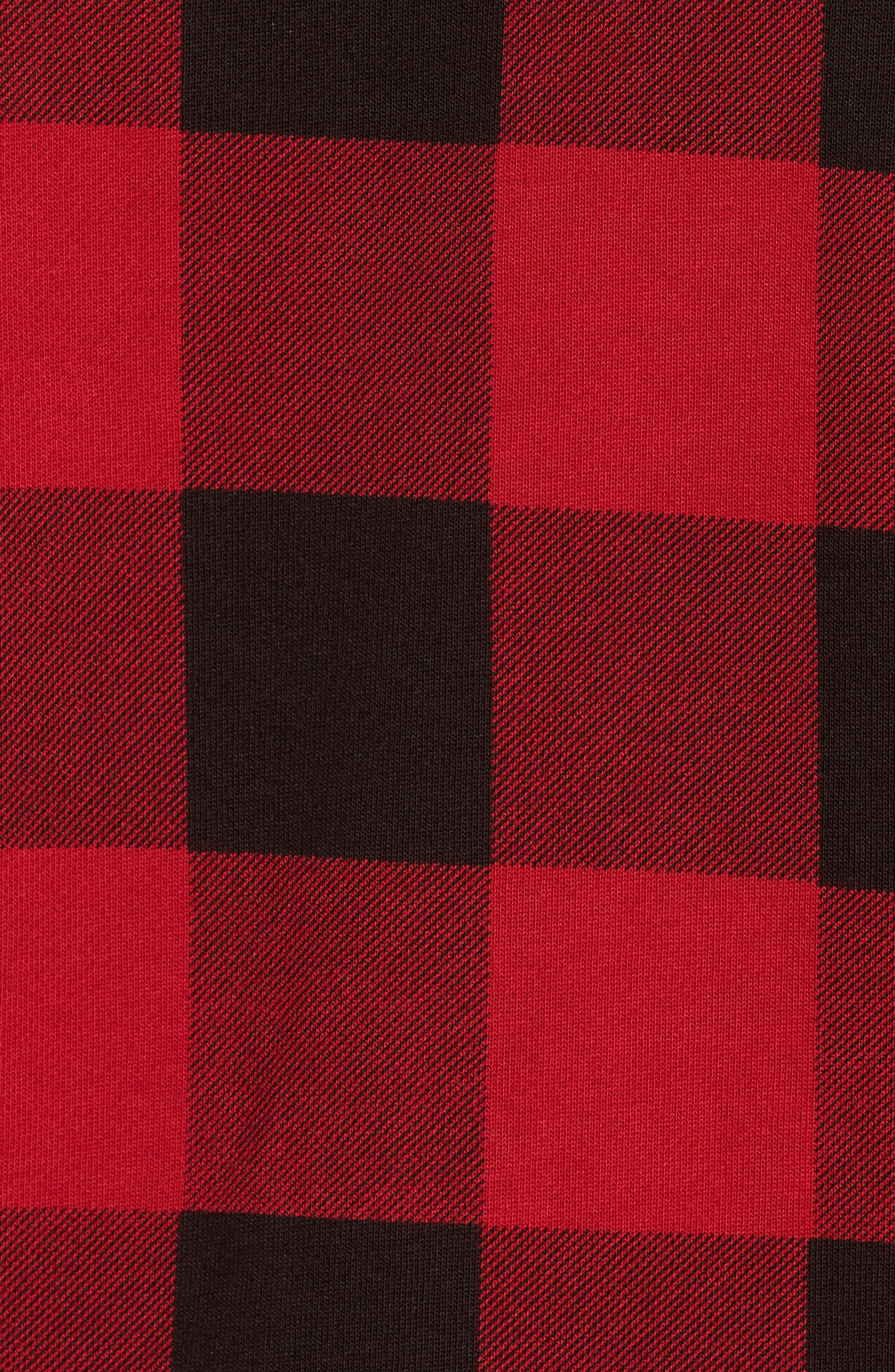 Skubic Check Slim Fit Sweater,                             Alternate thumbnail 5, color,                             Red