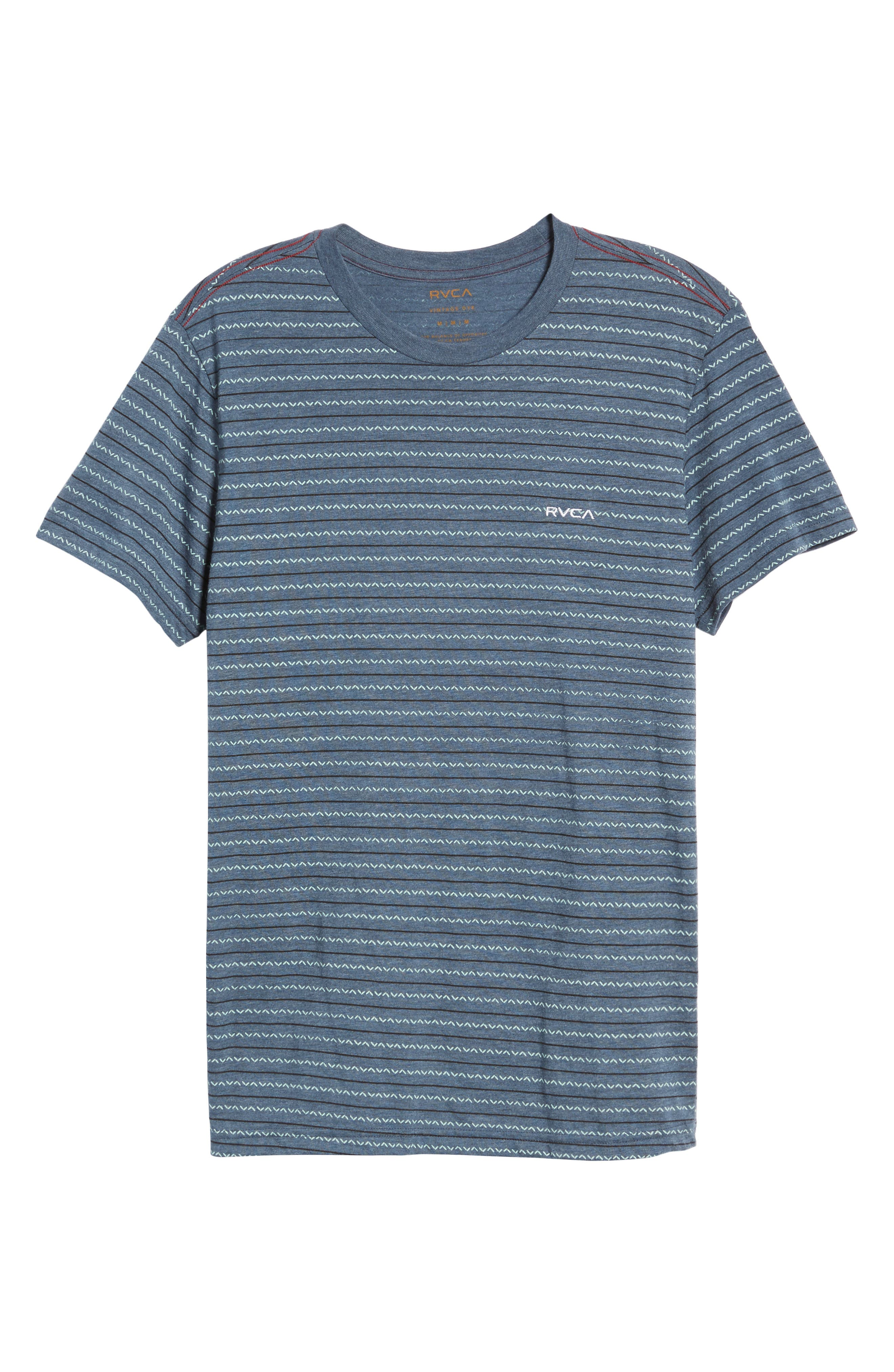 Chevron Stripe T-Shirt,                             Alternate thumbnail 6, color,                             Dark Denim