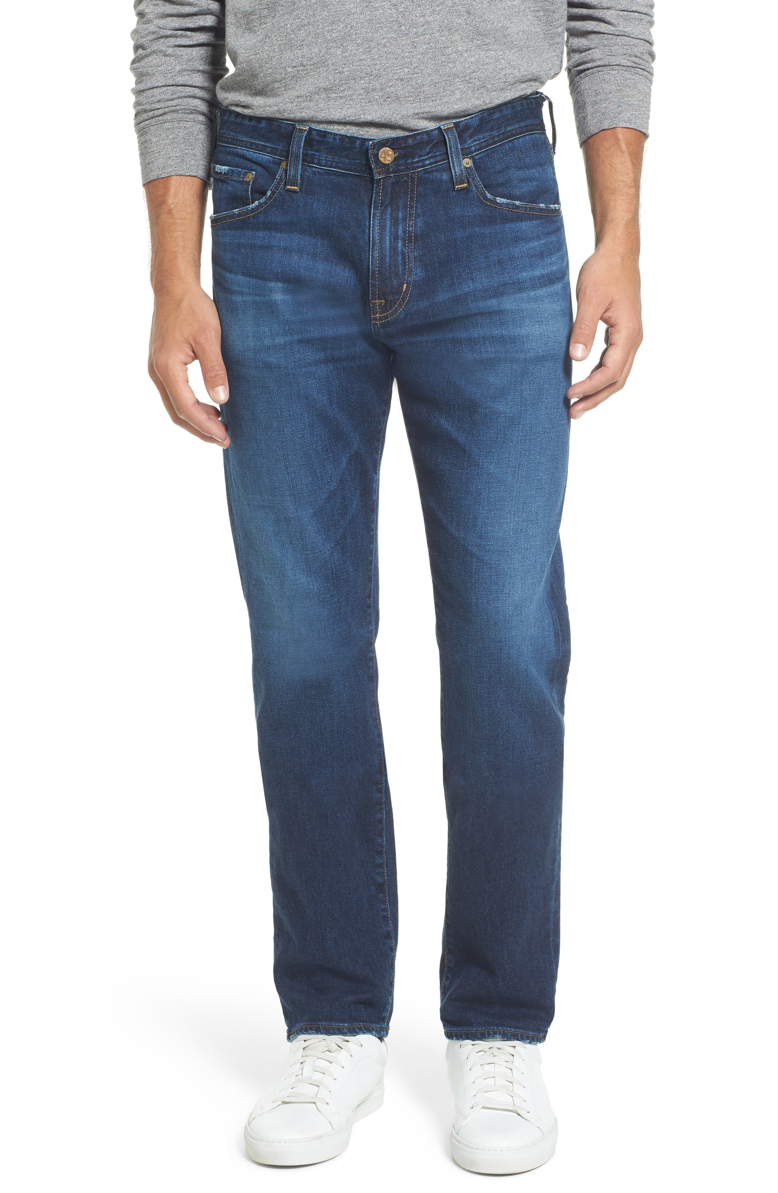 Alternate Image 1 Selected - AG Graduate Slim Straight Leg Jeans (9 Years Aflame)
