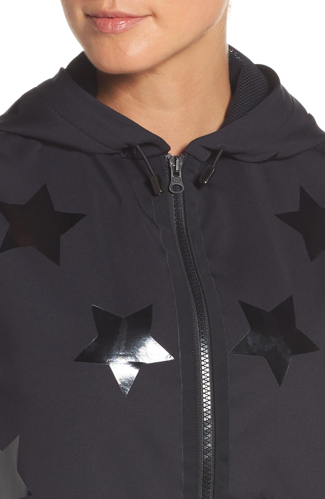Flux Knockout Hoodie Vest,                             Alternate thumbnail 4, color,                             Nero W/ Patent Nero
