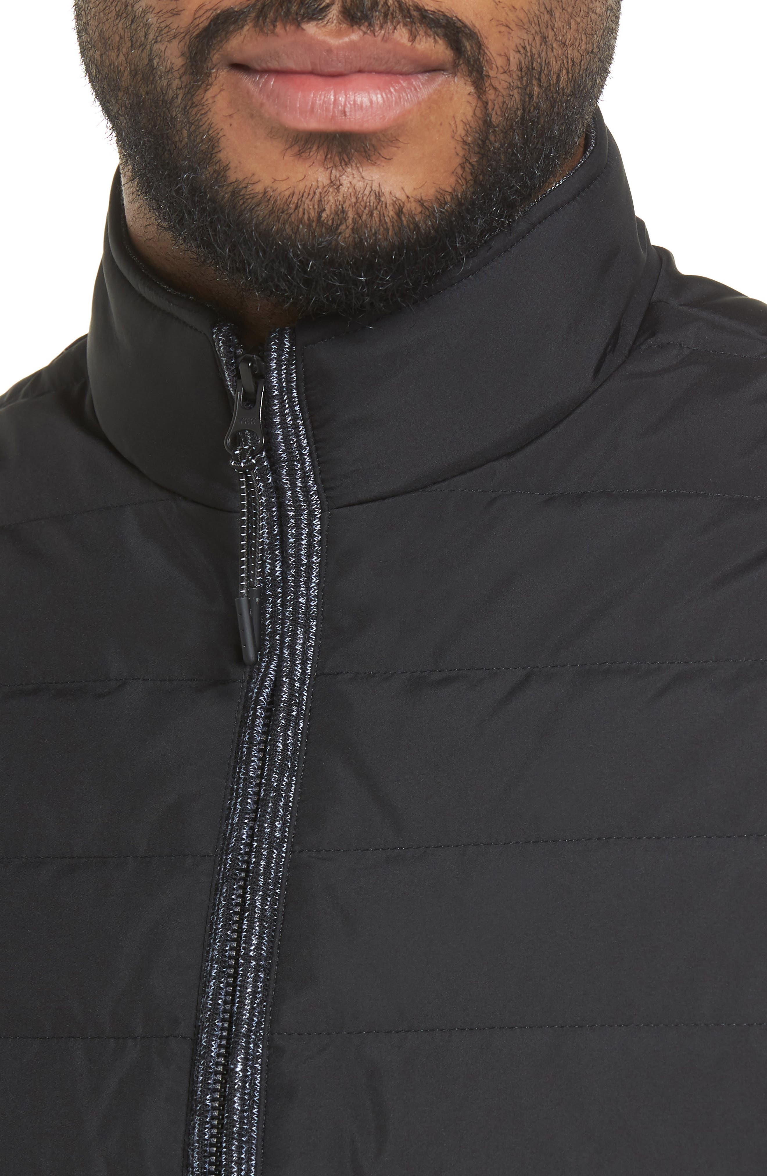 Jozeph Quilted Down Vest,                             Alternate thumbnail 3, color,                             Black