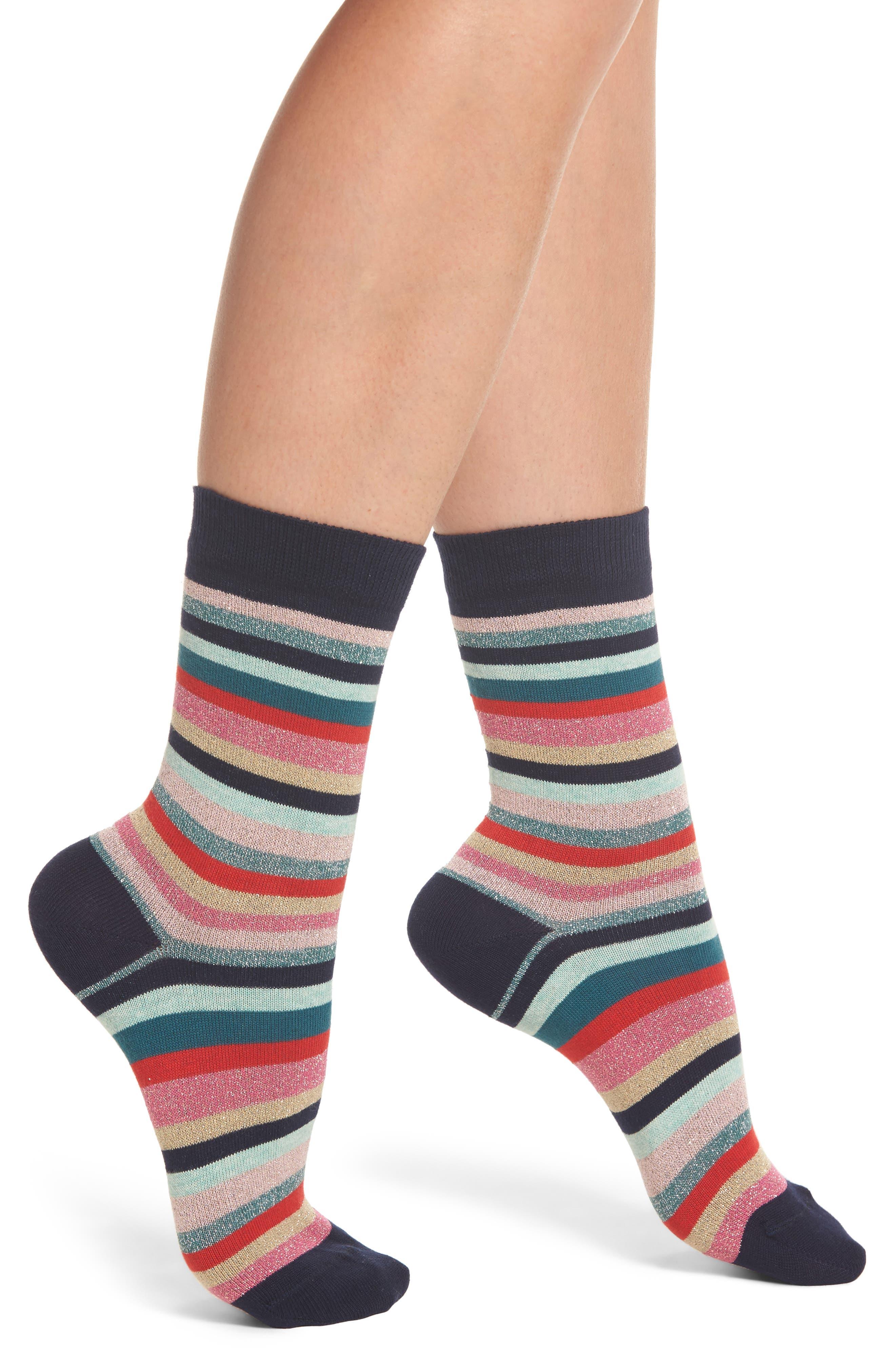 Clarissa Swirl Artist Stripe Crew Socks,                             Main thumbnail 1, color,                             Multi