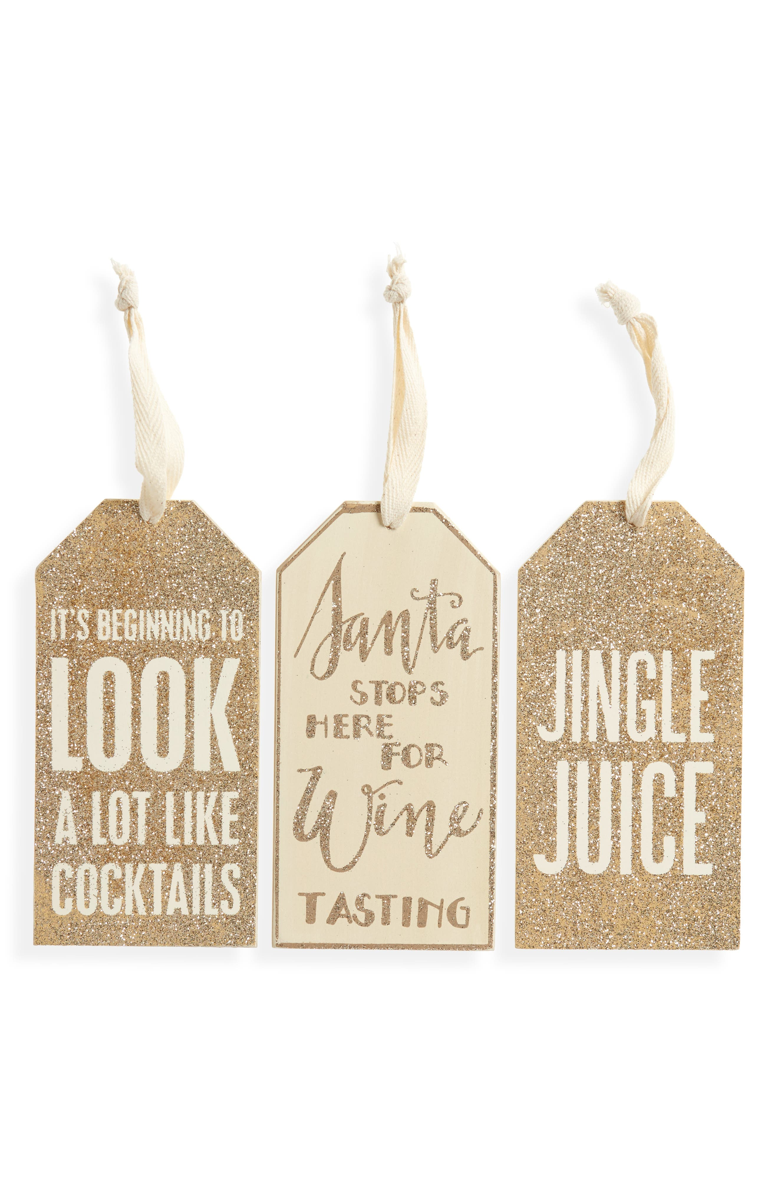 Primitives by Kathy Set of 3 Christmas Bottle Tags