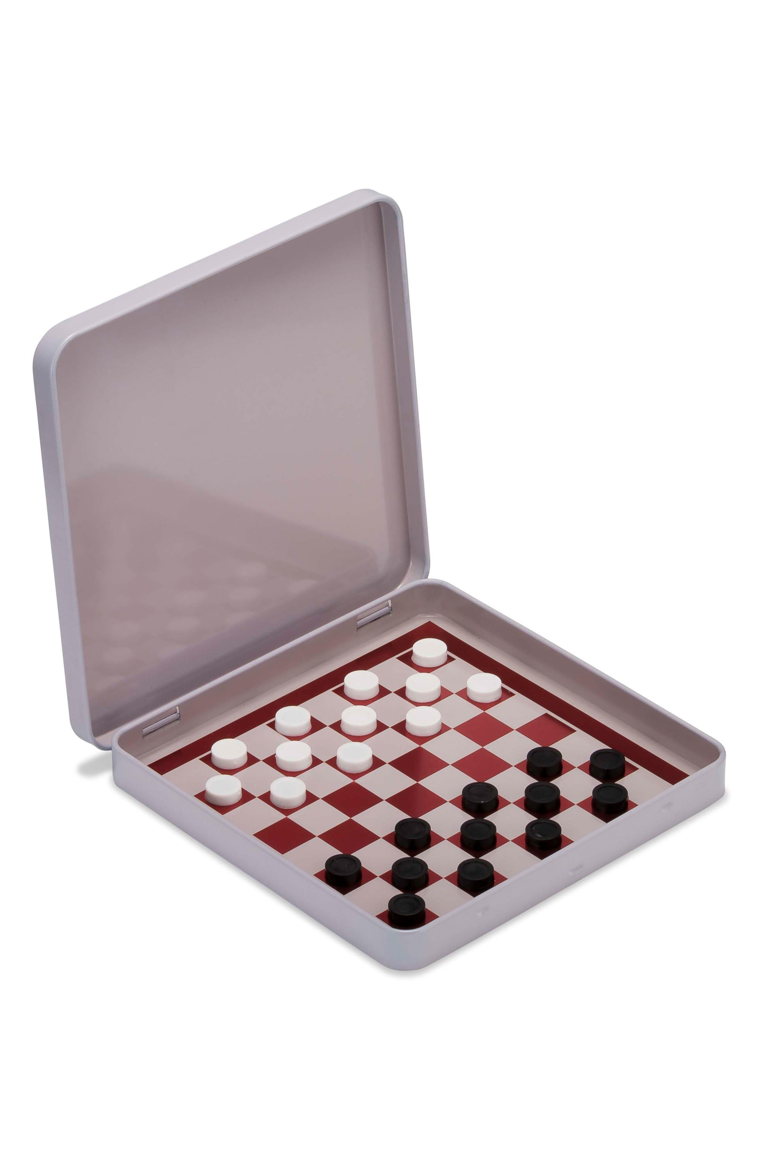 Classic Games 25-Piece Magnetic Checkers Set,                             Alternate thumbnail 2, color,                             Multi