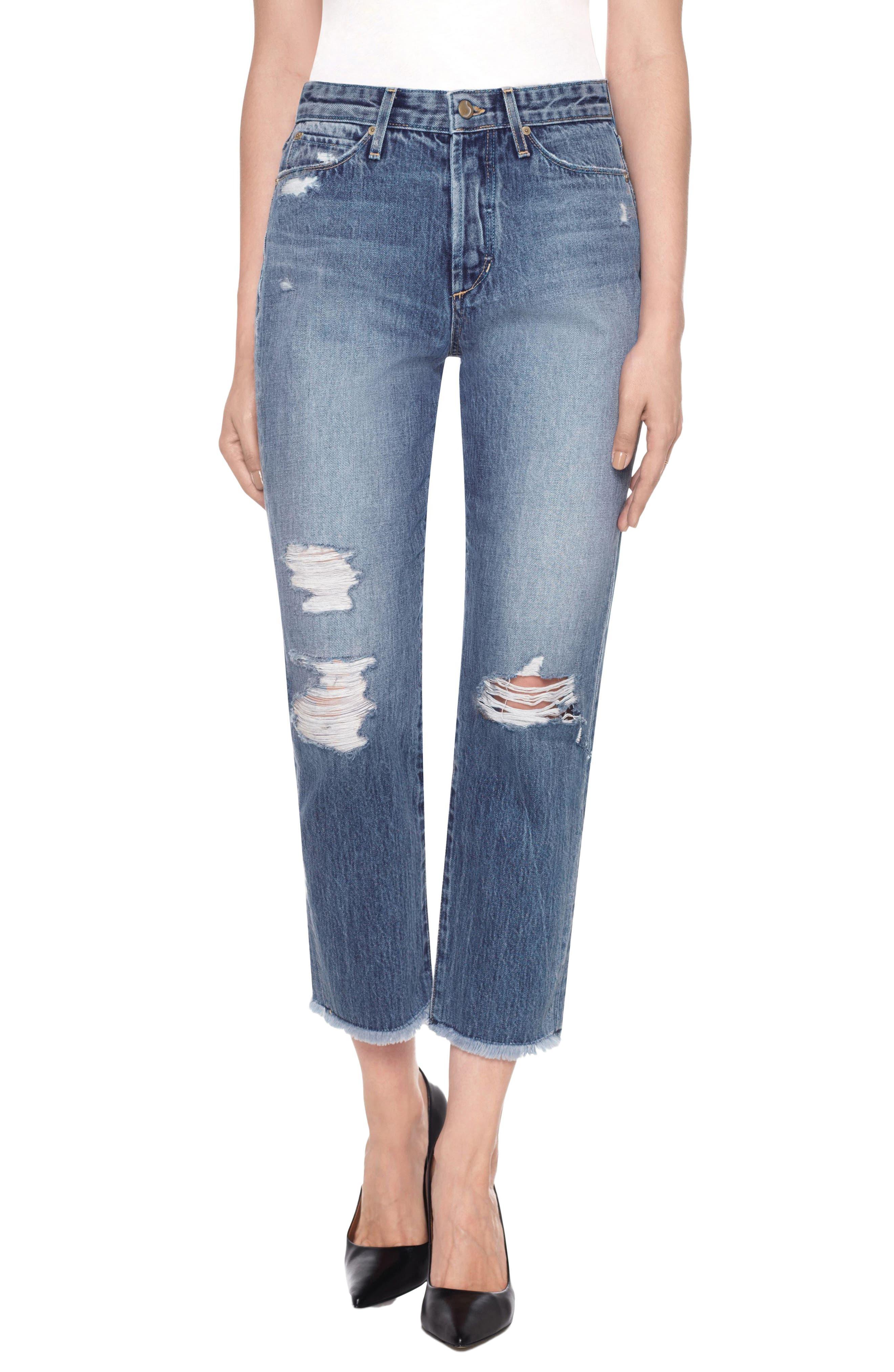 Smith High Waist Crop Boyfriend Jeans,                         Main,                         color, Caryn