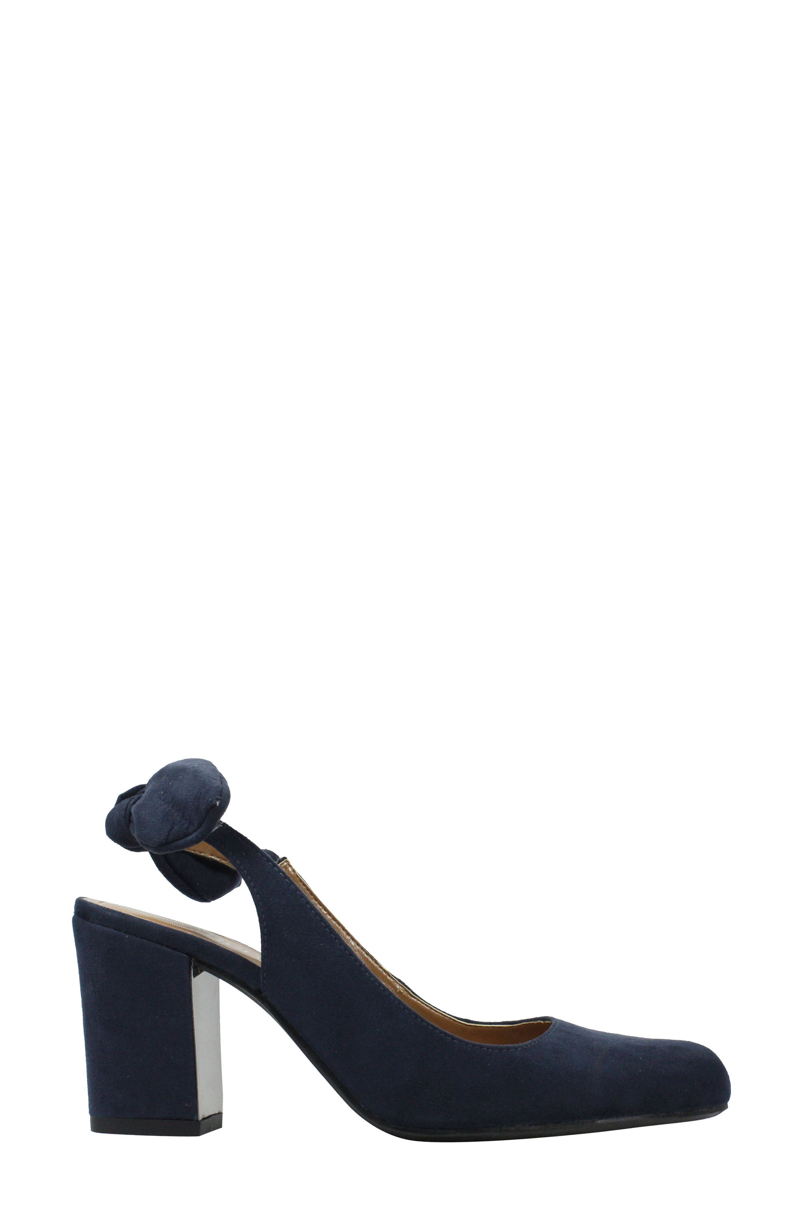 Kennedi Slingback Pump,                             Alternate thumbnail 3, color,                             Navy