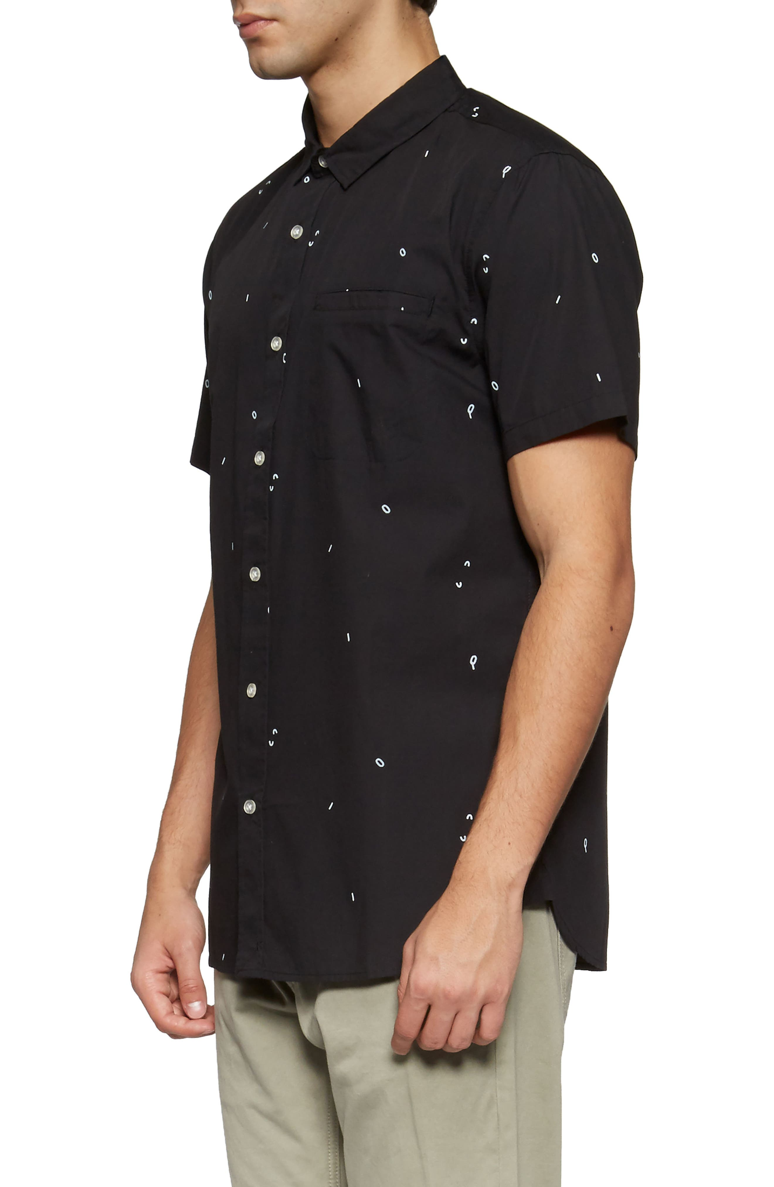 Alternate Image 3  - TAVIK 'Porter' Print Poplin Short Sleeve Woven Shirt