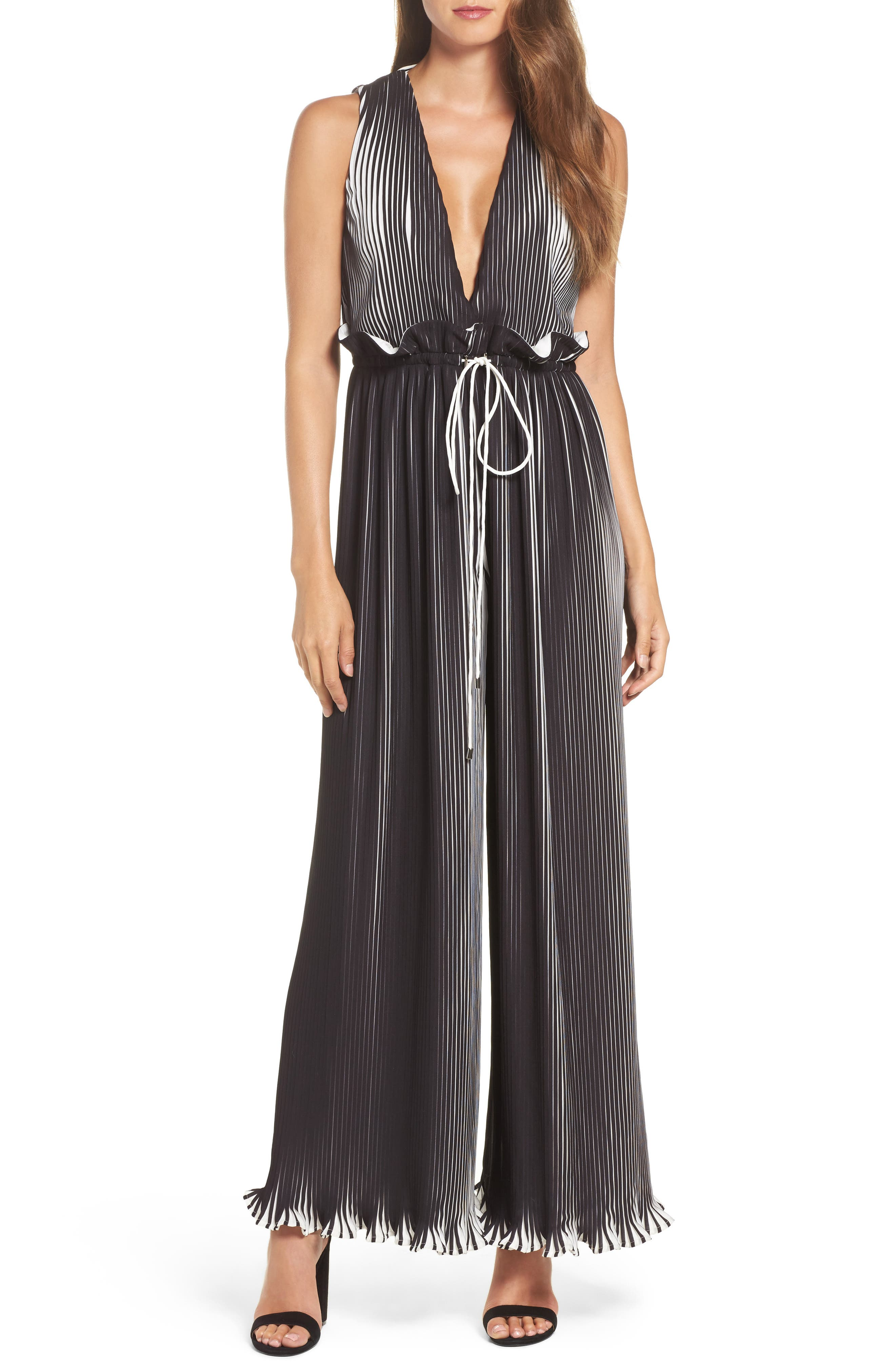 C/MEO Collective Dream Chaser Plunging Pleat Jumpsuit