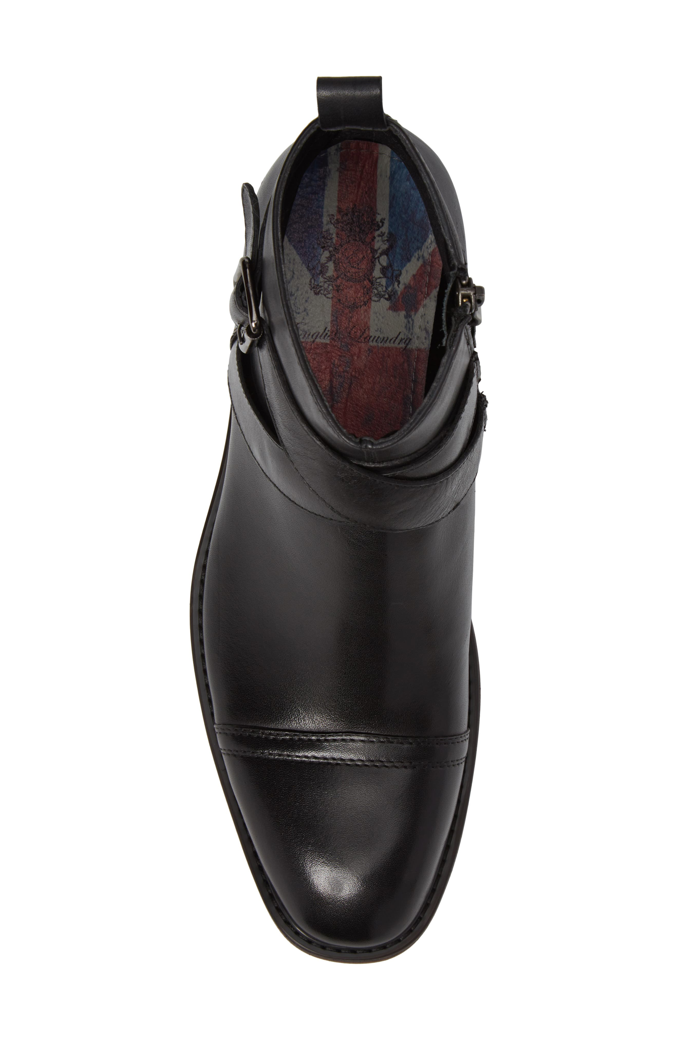 Edmond Zip Boot,                             Alternate thumbnail 5, color,                             Black Leather