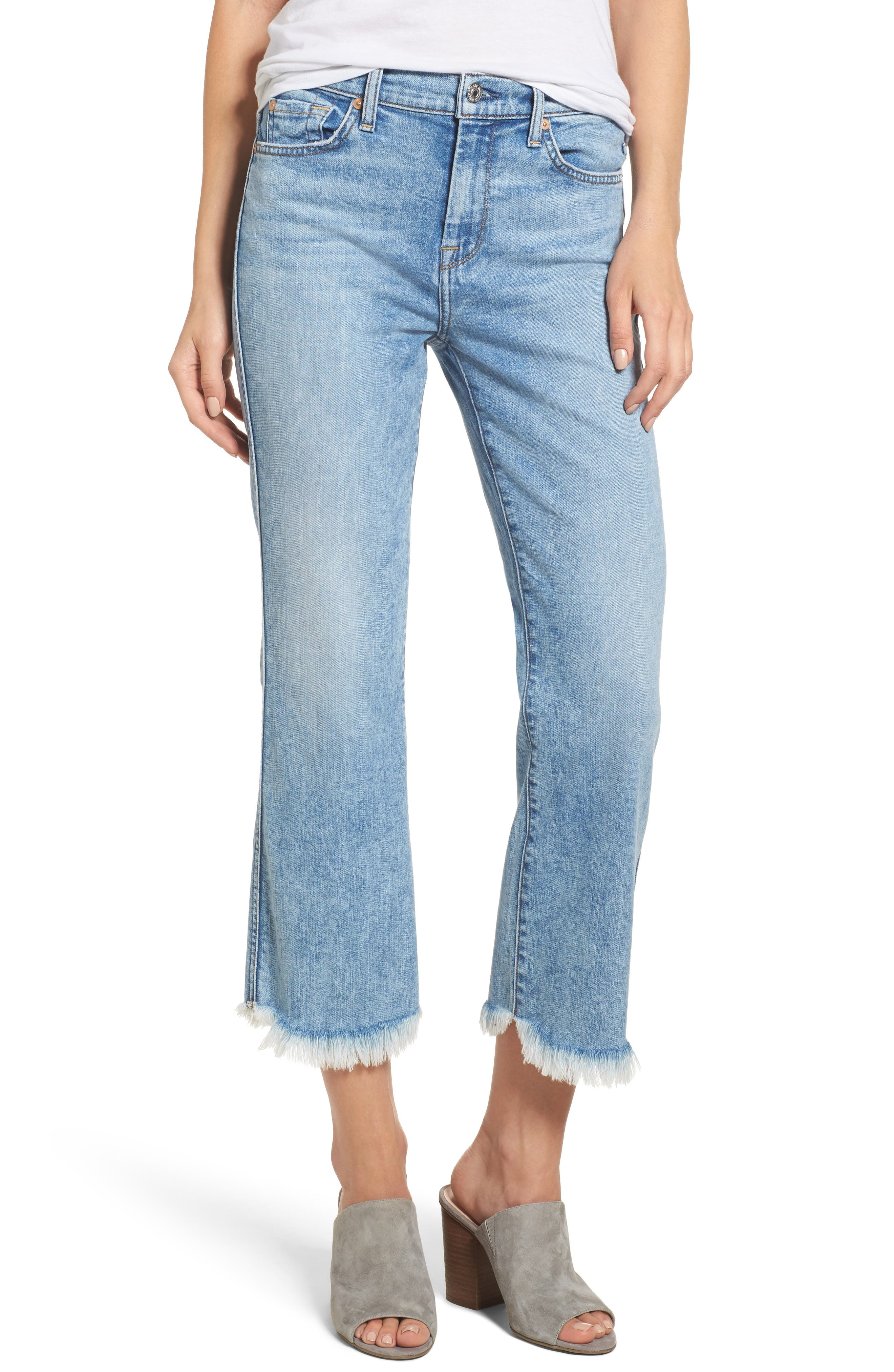 Ali High Waist Crop Flare Leg Jeans,                         Main,                         color, Radiant Wythe