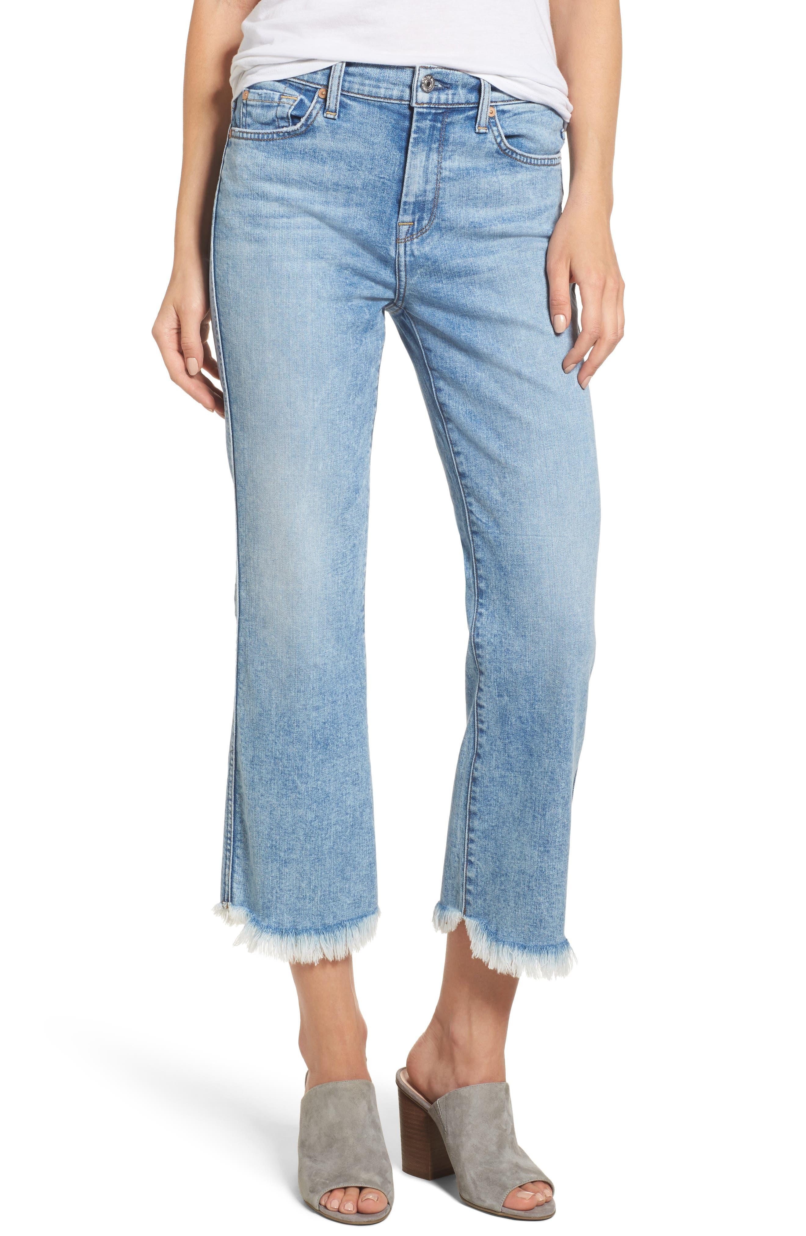 7 For All Mankind® Ali High Waist Crop Flare Leg Jeans (Radiant Wythe)