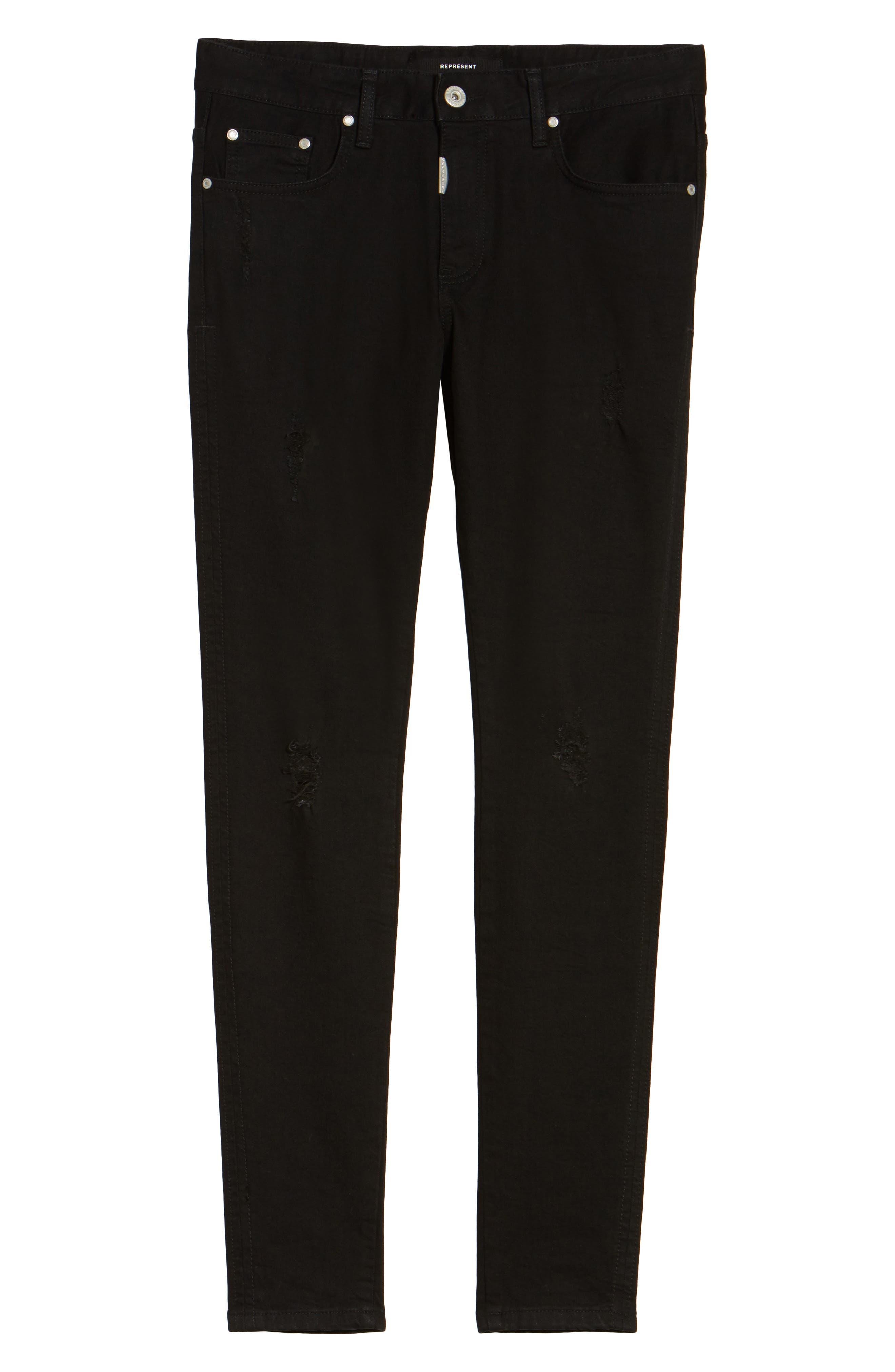 Alternate Image 6  - Represent Slim Fit Distressed Jeans