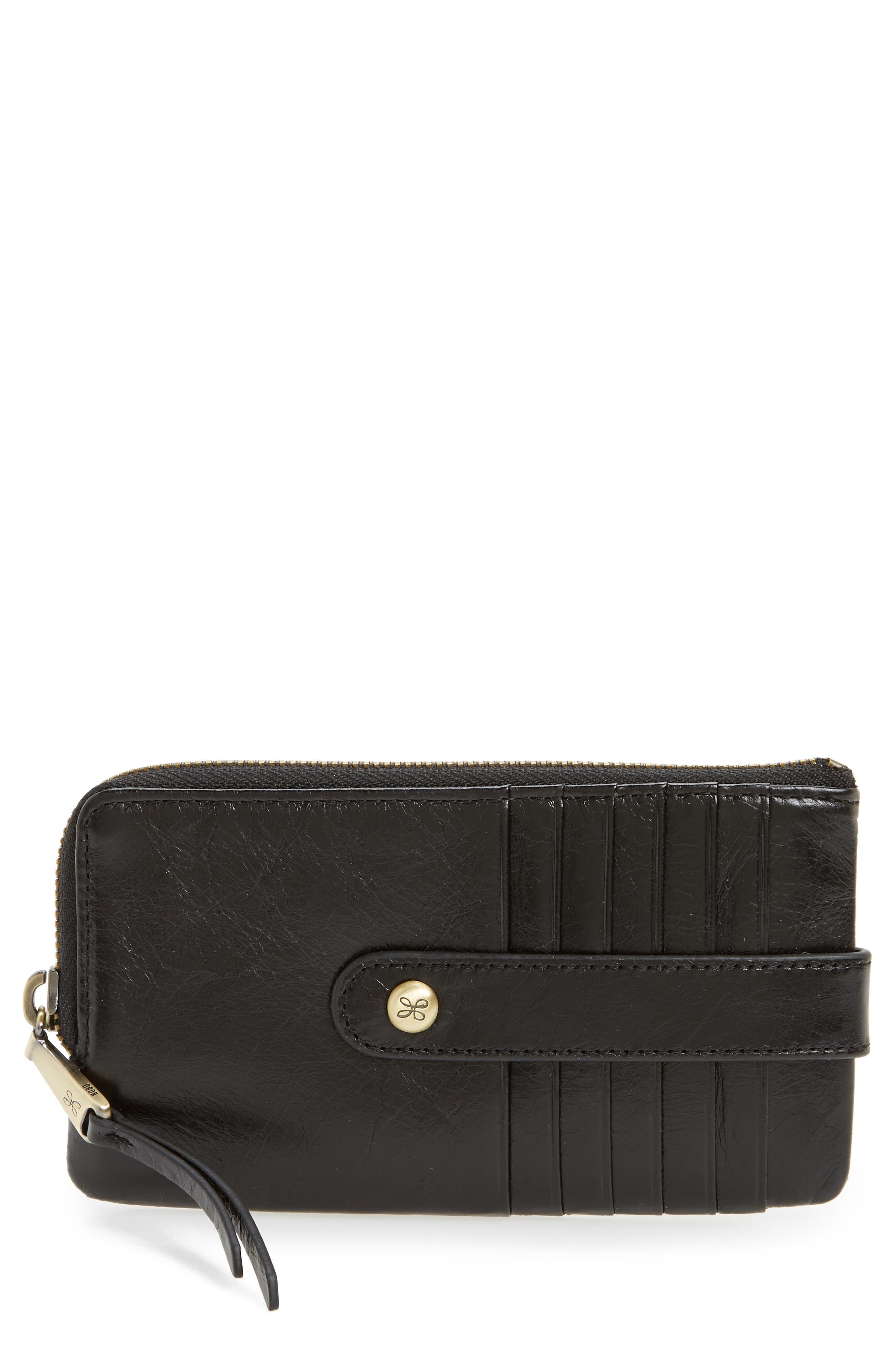Hobo Flash Calfskin Leather Card Case