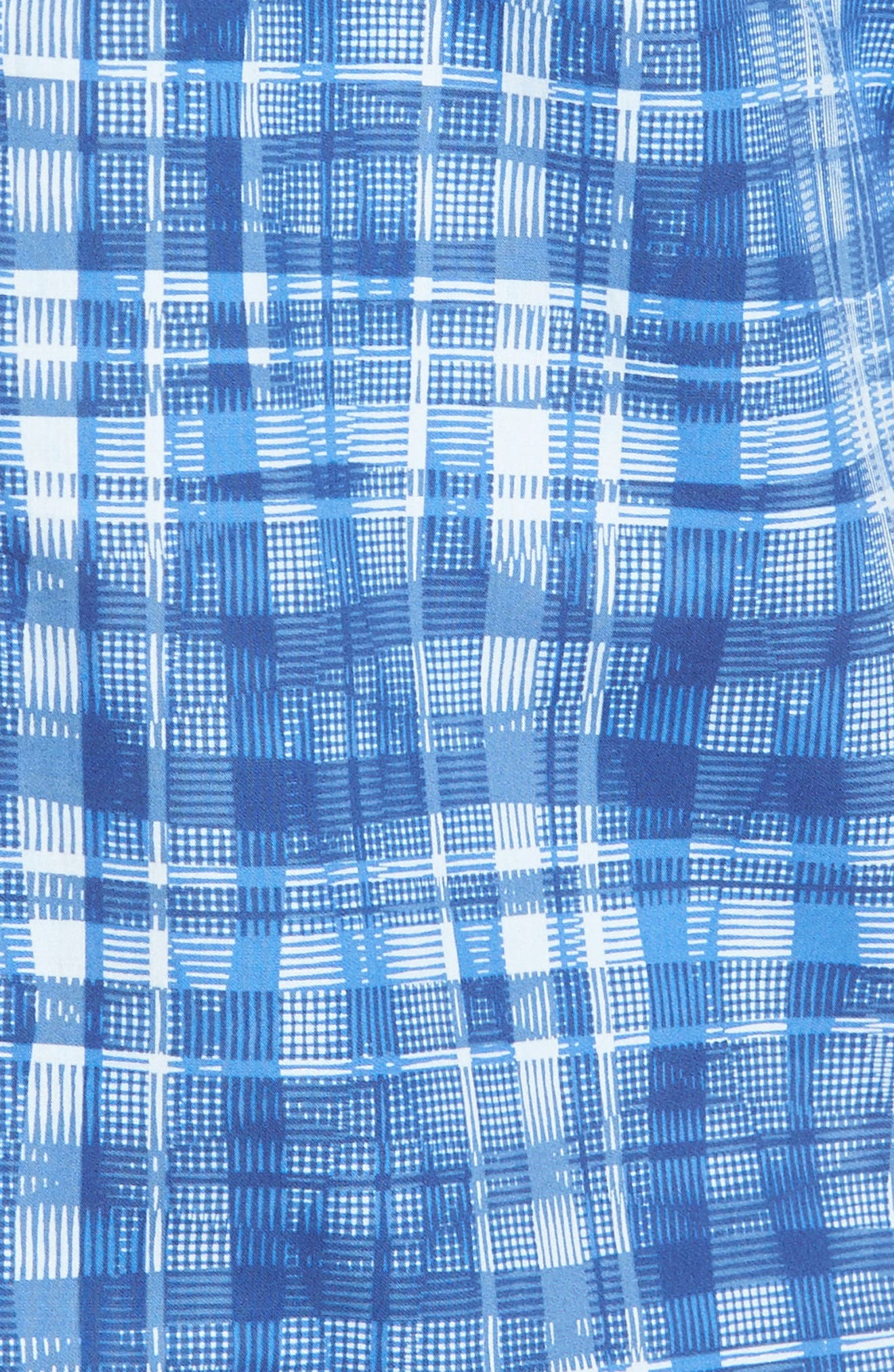 Classic Fit Abstract Plaid Sport Shirt,                             Alternate thumbnail 5, color,                             Classic Blue