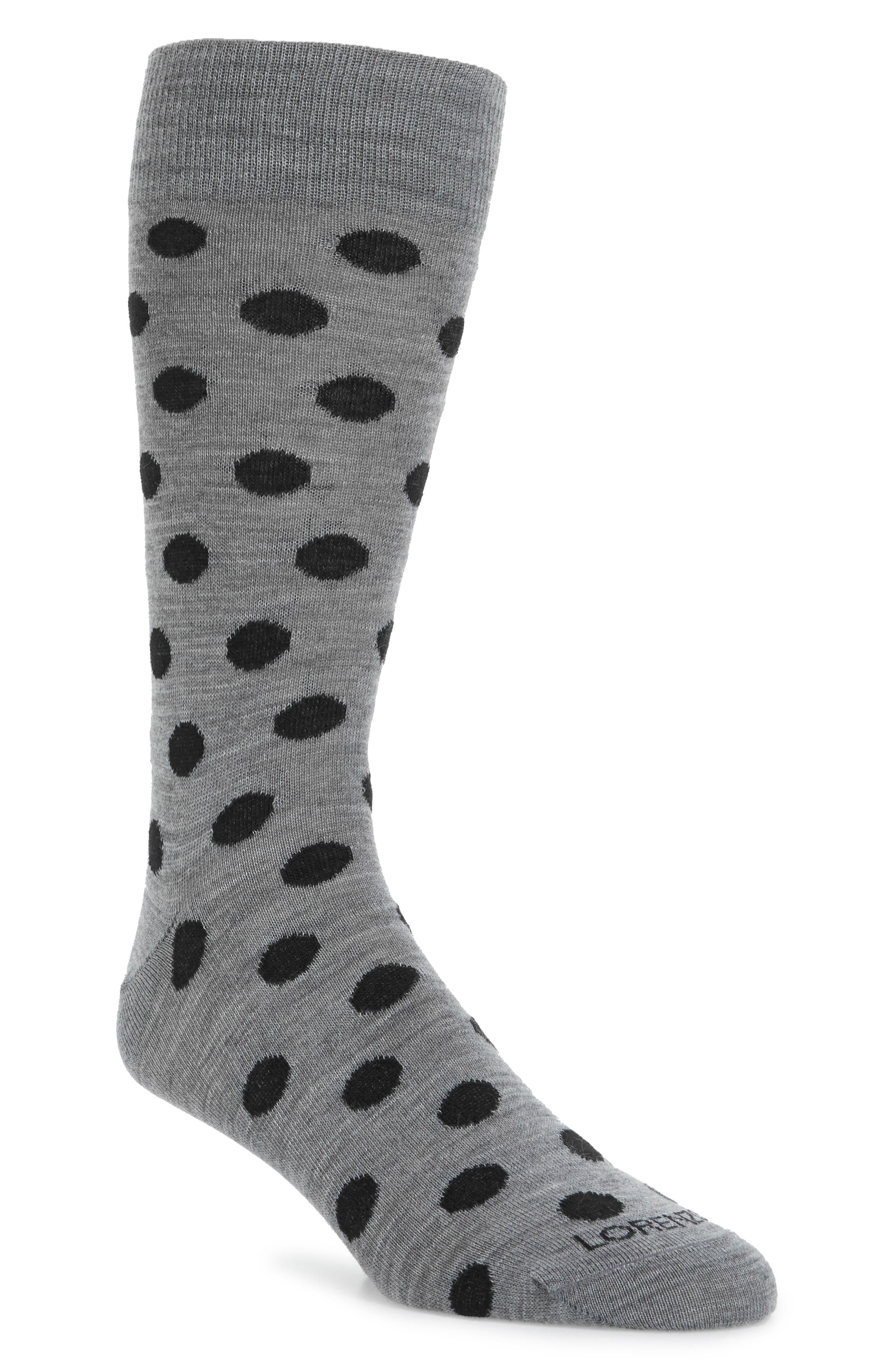 Main Image - Lorenzo Uomo Dot Crew Socks (3 for $30)