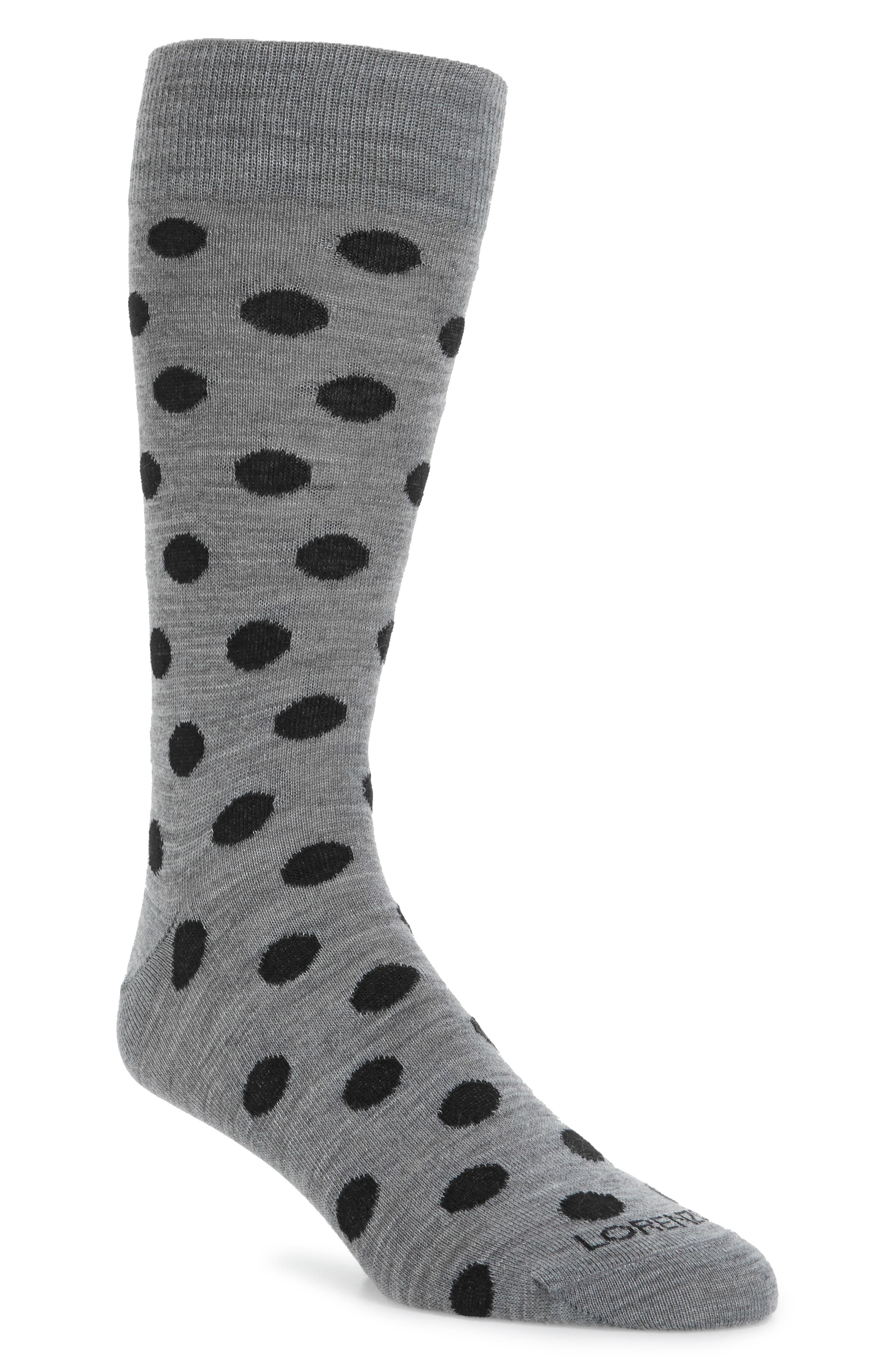 Lorenzo Uomo Dot Crew Socks