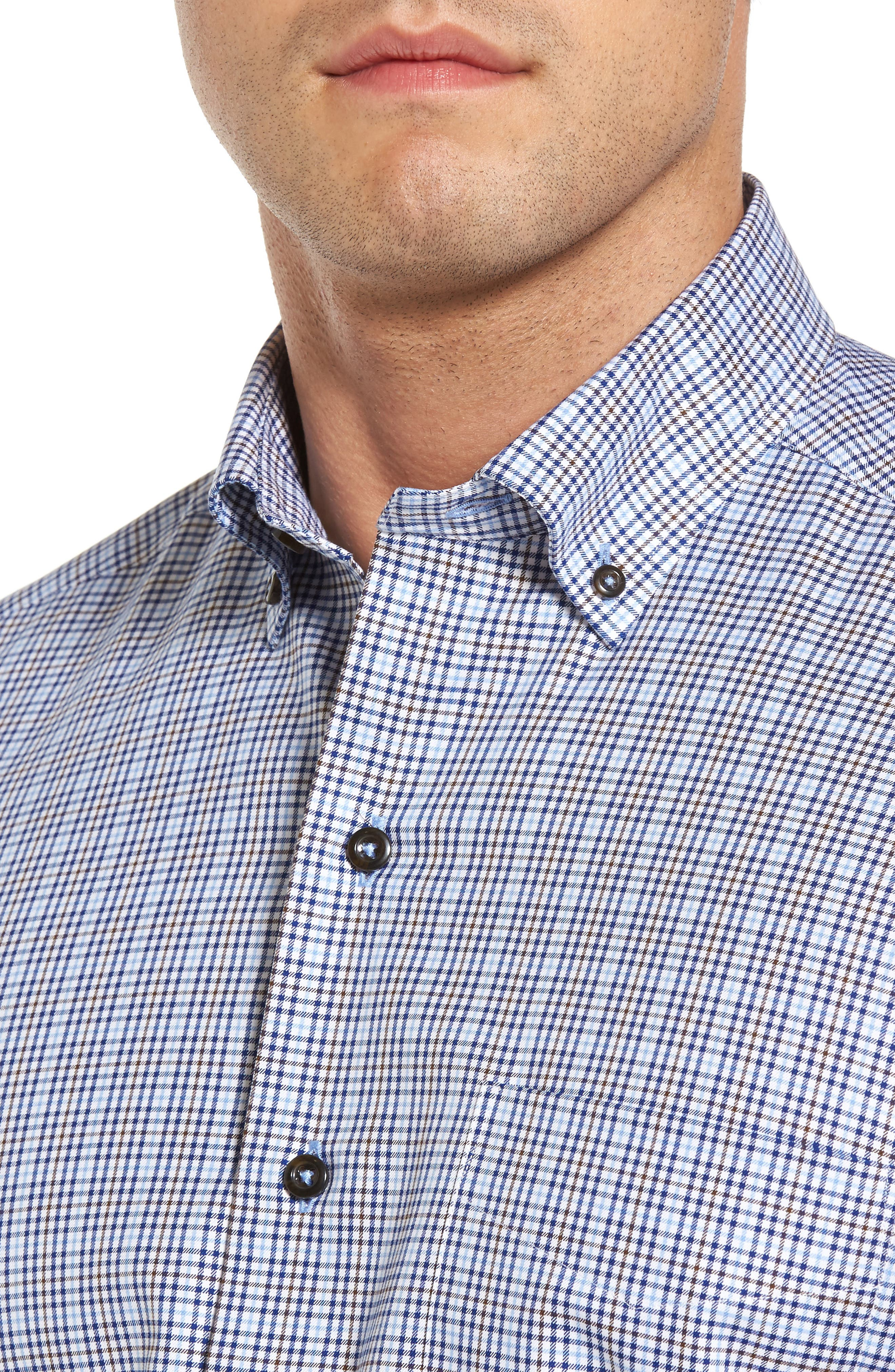 Alternate Image 4  - David Donahue Regular Fit Plaid Sport Shirt