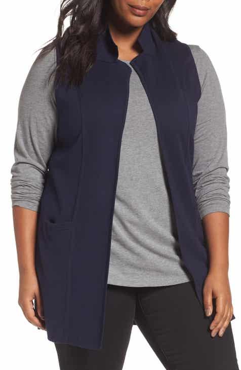 Foxcroft Jodi Longline Sweater Vest (Plus Size) 82c174f20