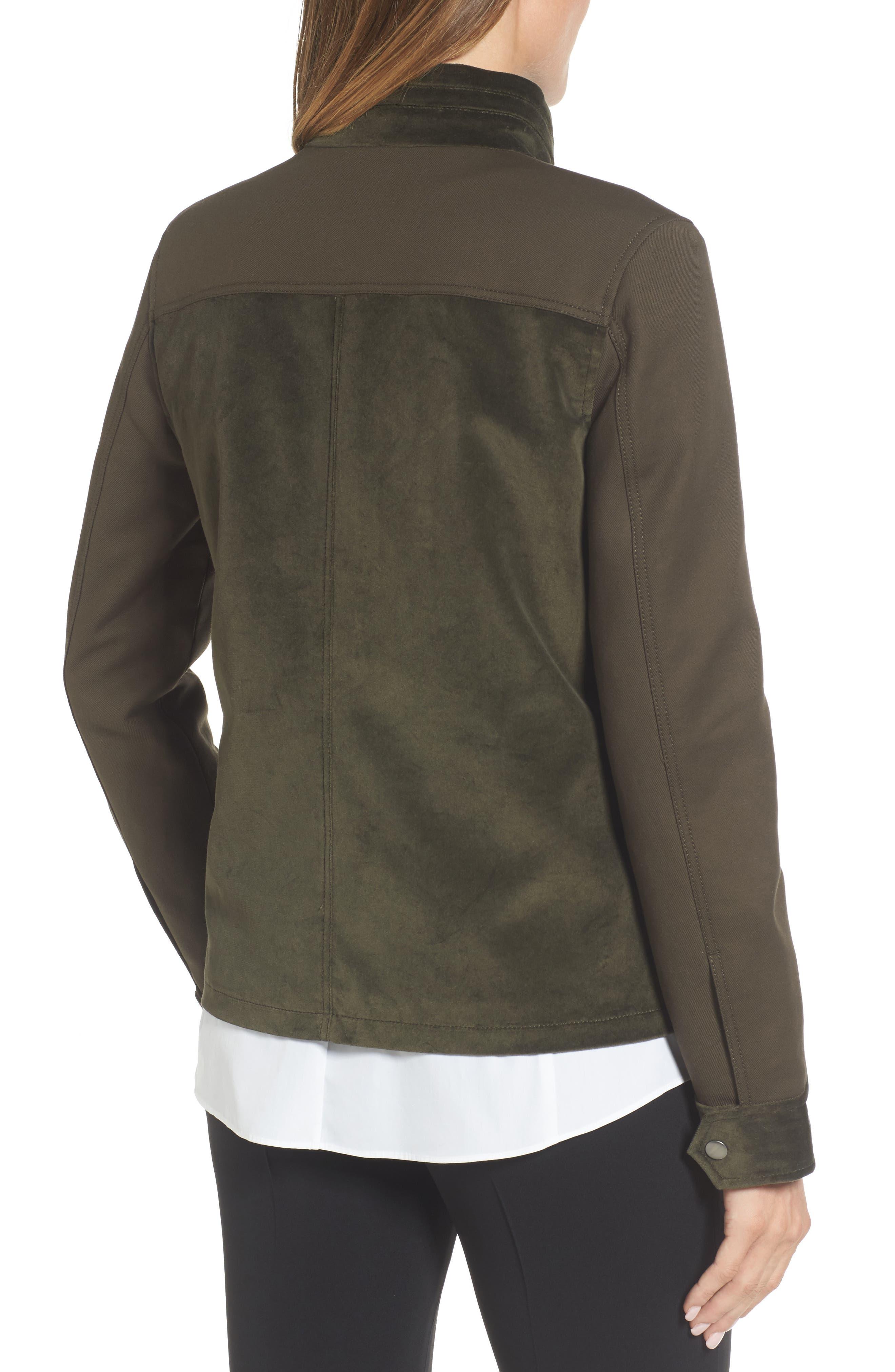 Alternate Image 2  - Nordstrom Signature Velvet Back Utility Jacket