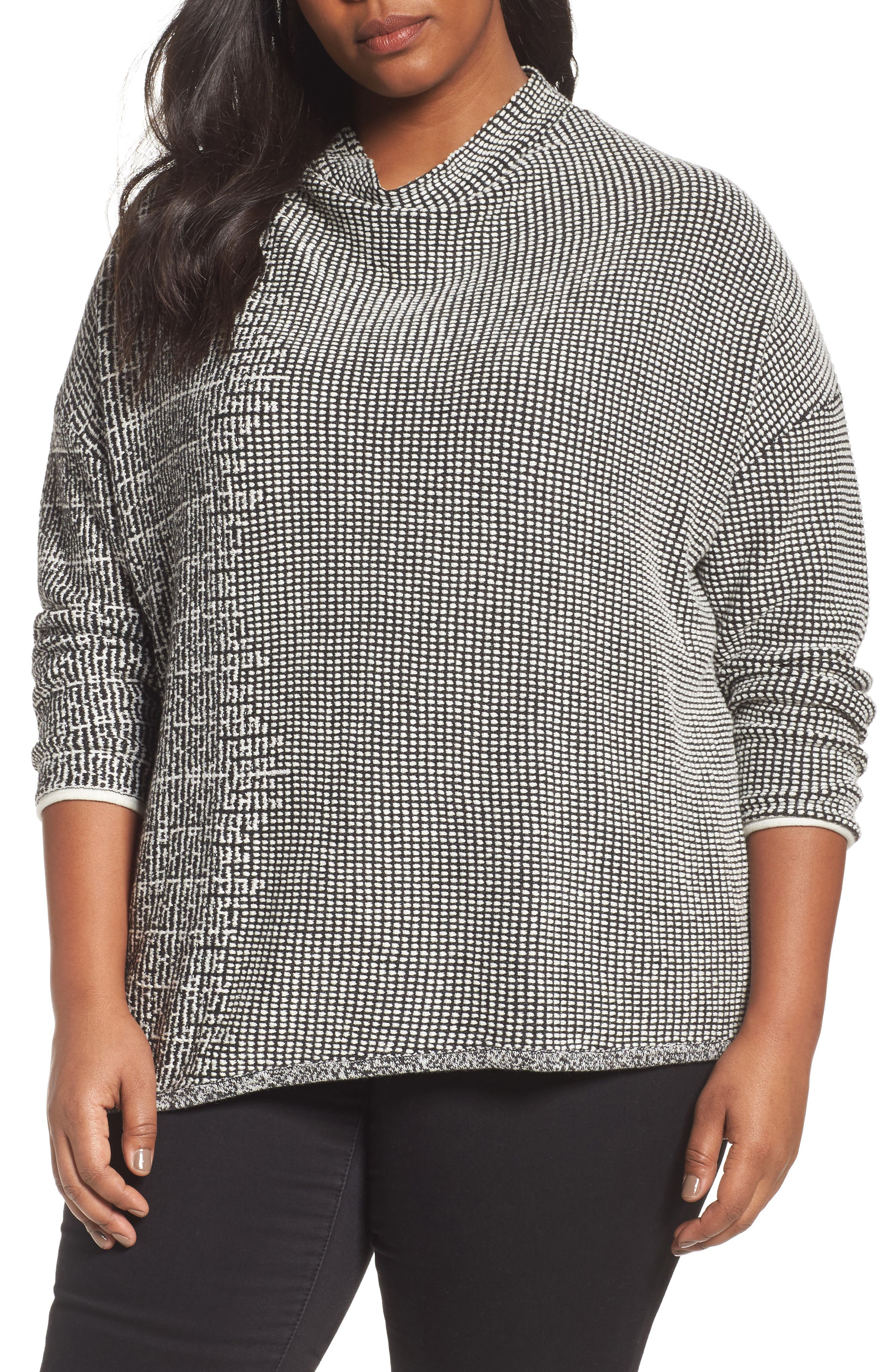 Alternate Image 1 Selected - NIC+ZOE Frosted Fall Sweater (Plus Size)