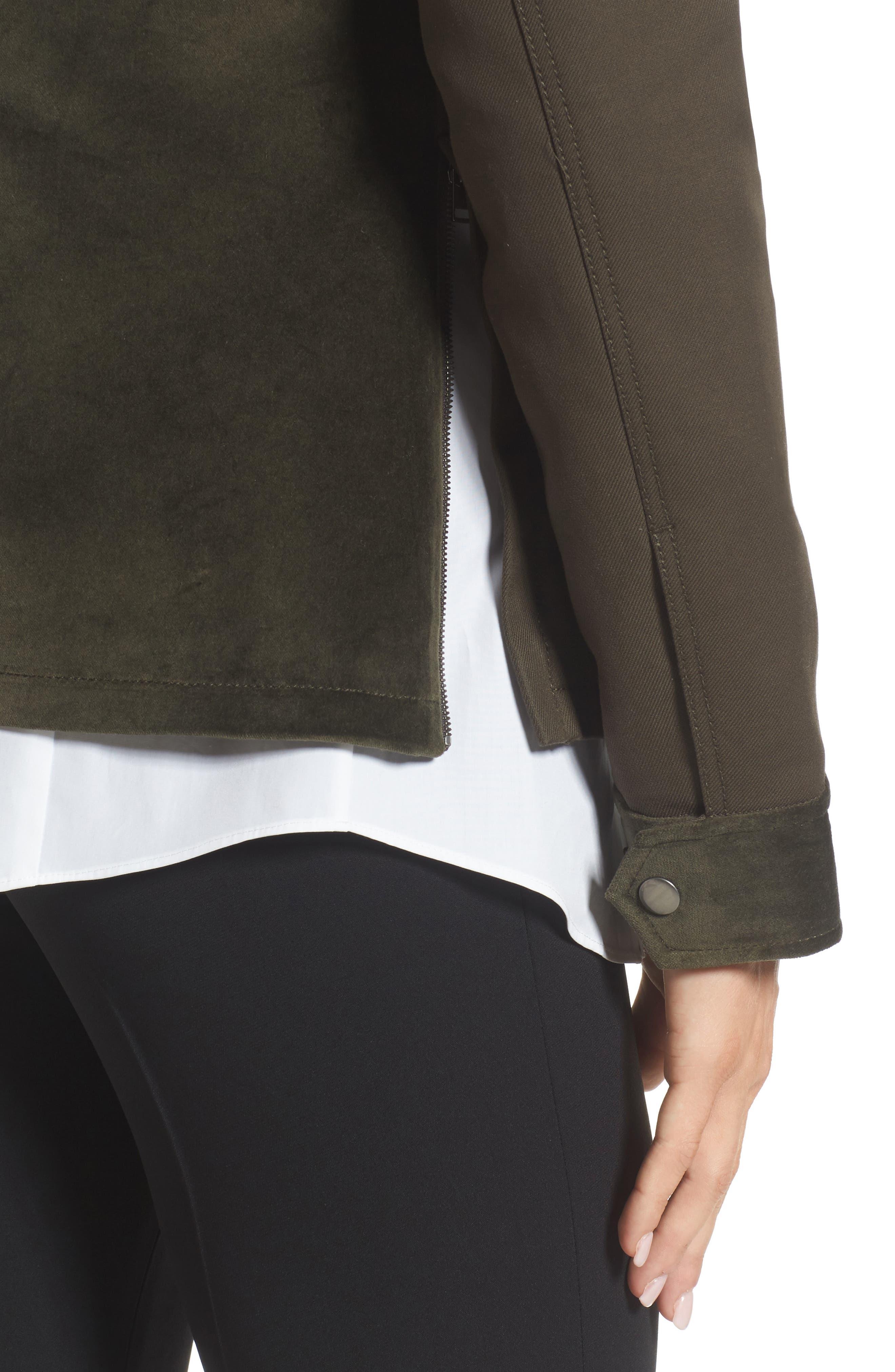 Alternate Image 4  - Nordstrom Signature Velvet Back Utility Jacket