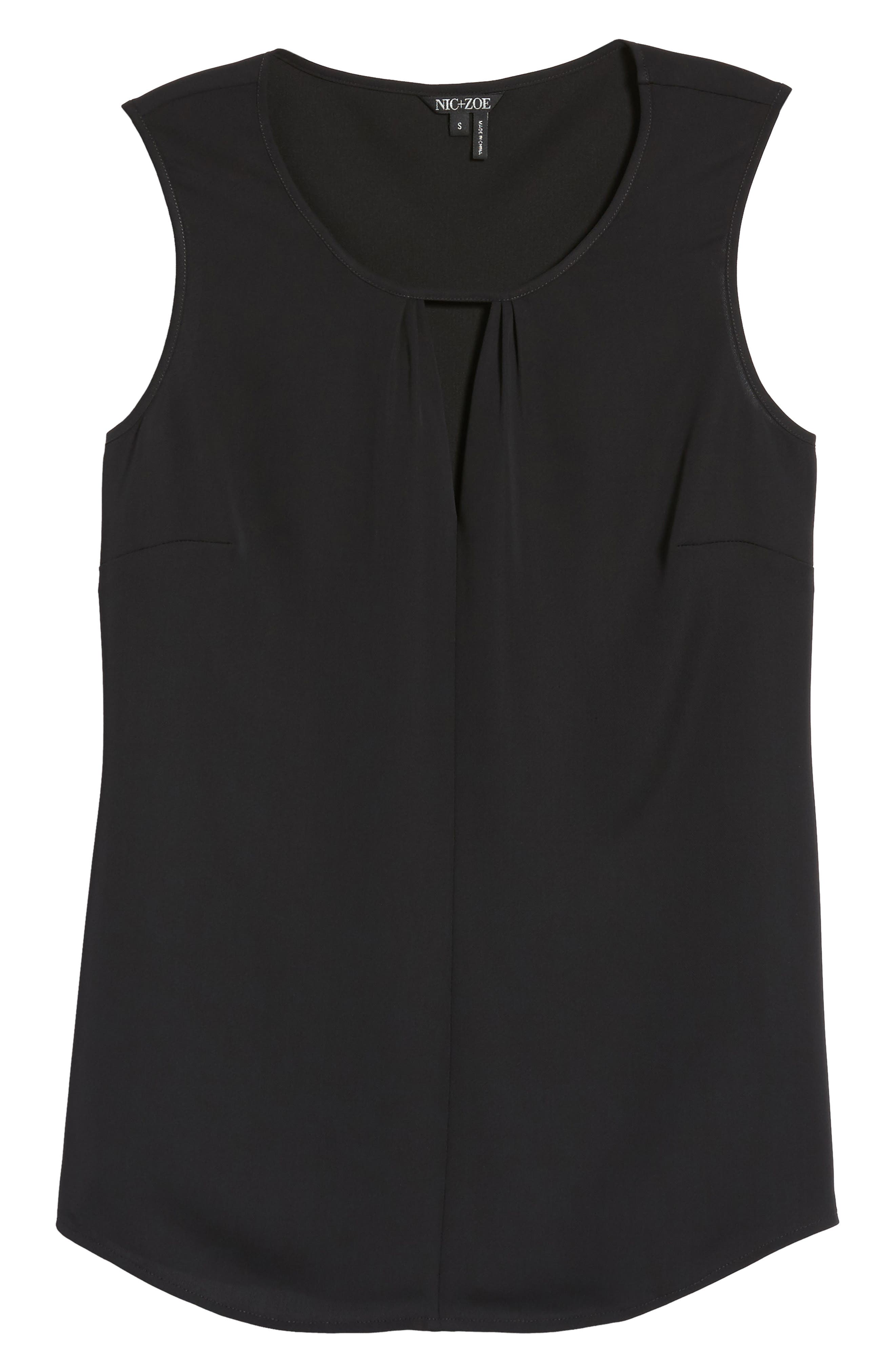 Easy Keyhole Tank Top,                             Alternate thumbnail 6, color,                             Black Onyx