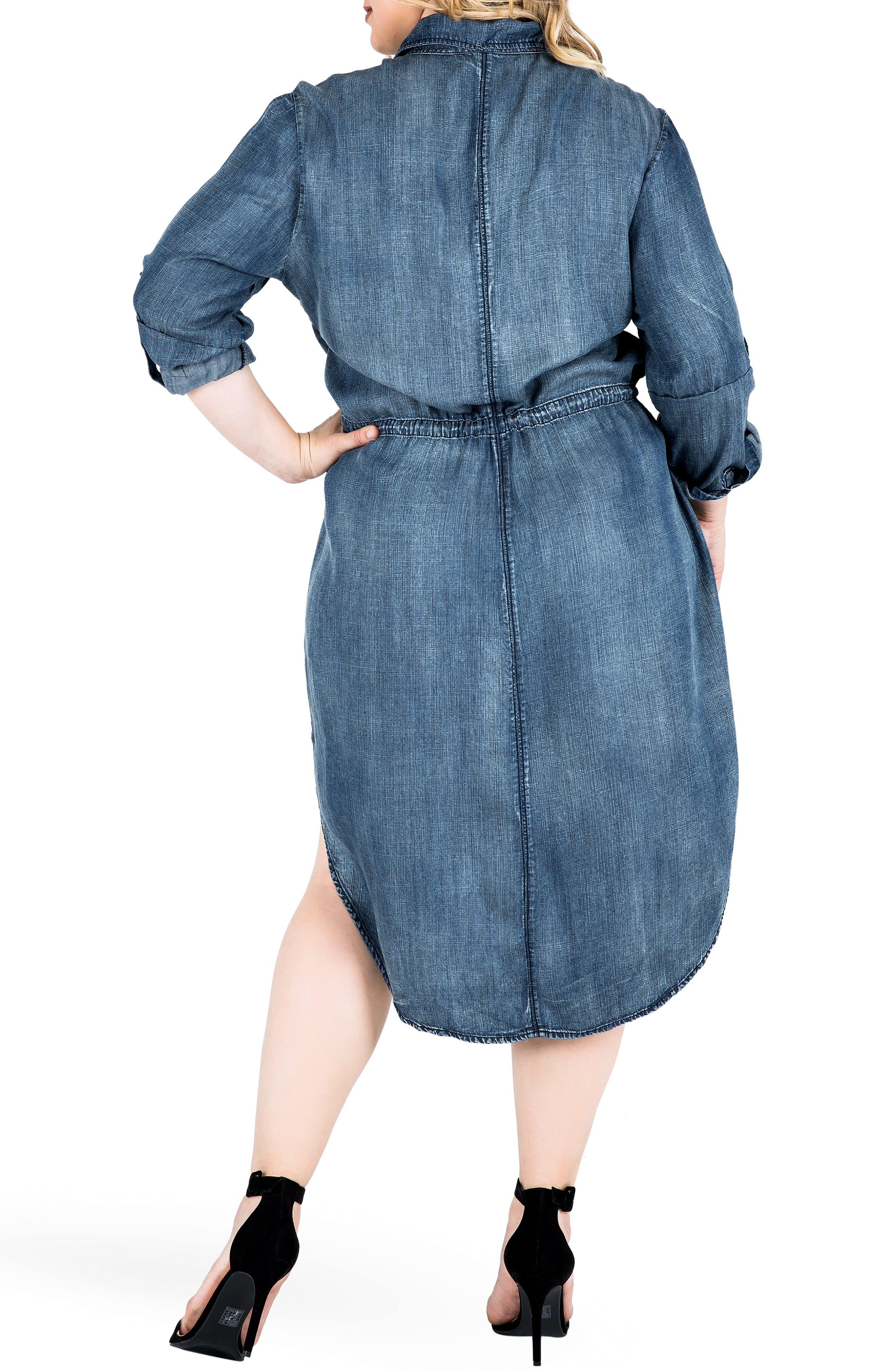 Alternate Image 2  - Standards & Practices Paige Denim Shirtdress (Plus Size)